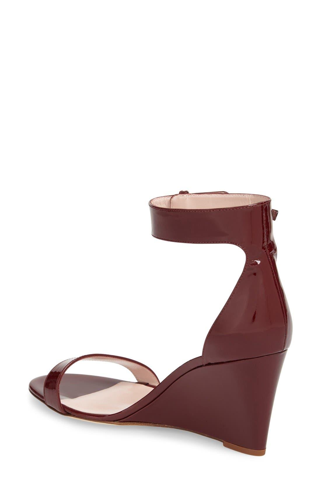 'ronia' wedge sandal,                             Alternate thumbnail 6, color,