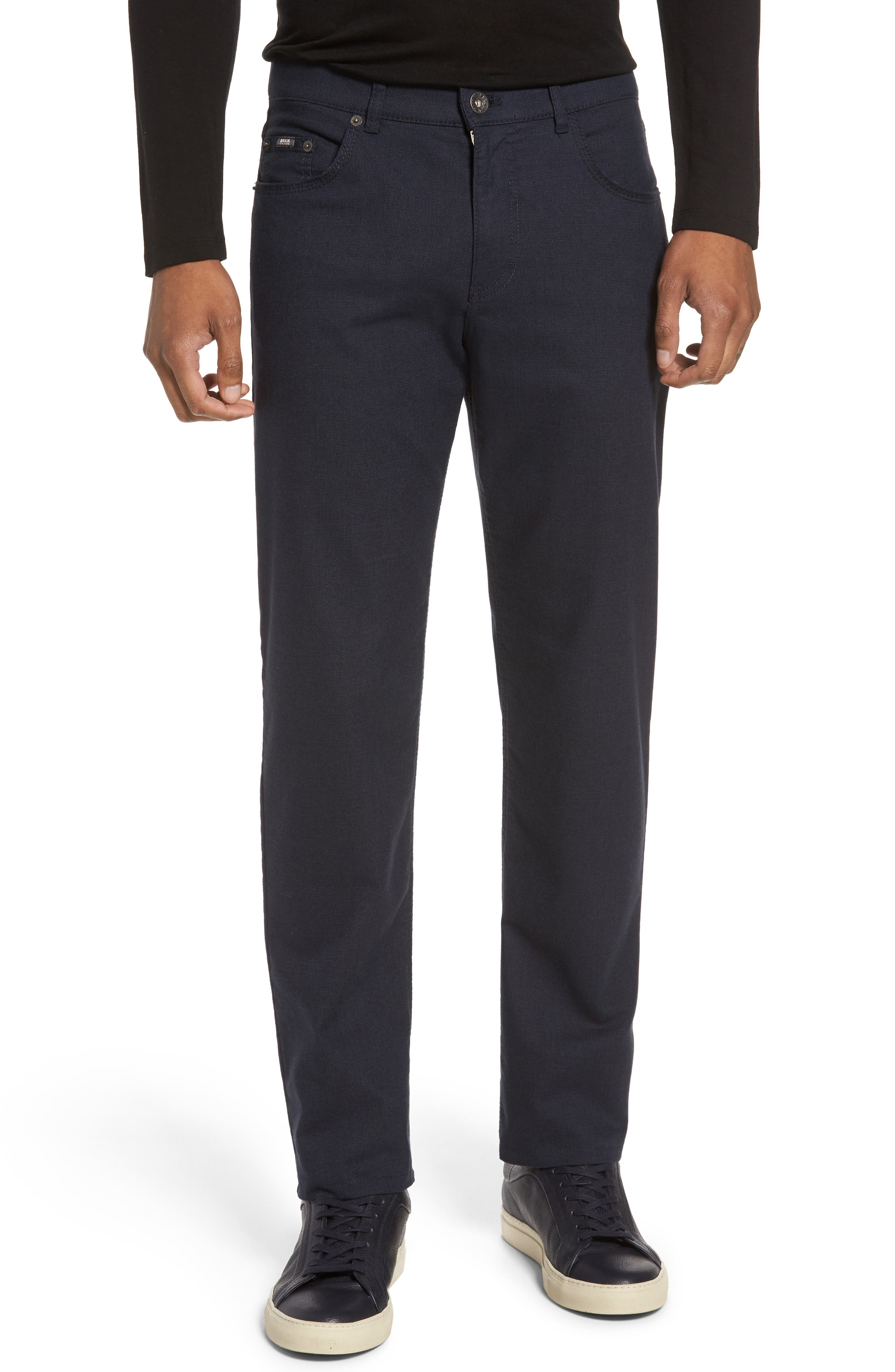 Five-Pocket Stretch Cotton Trousers,                             Main thumbnail 2, color,