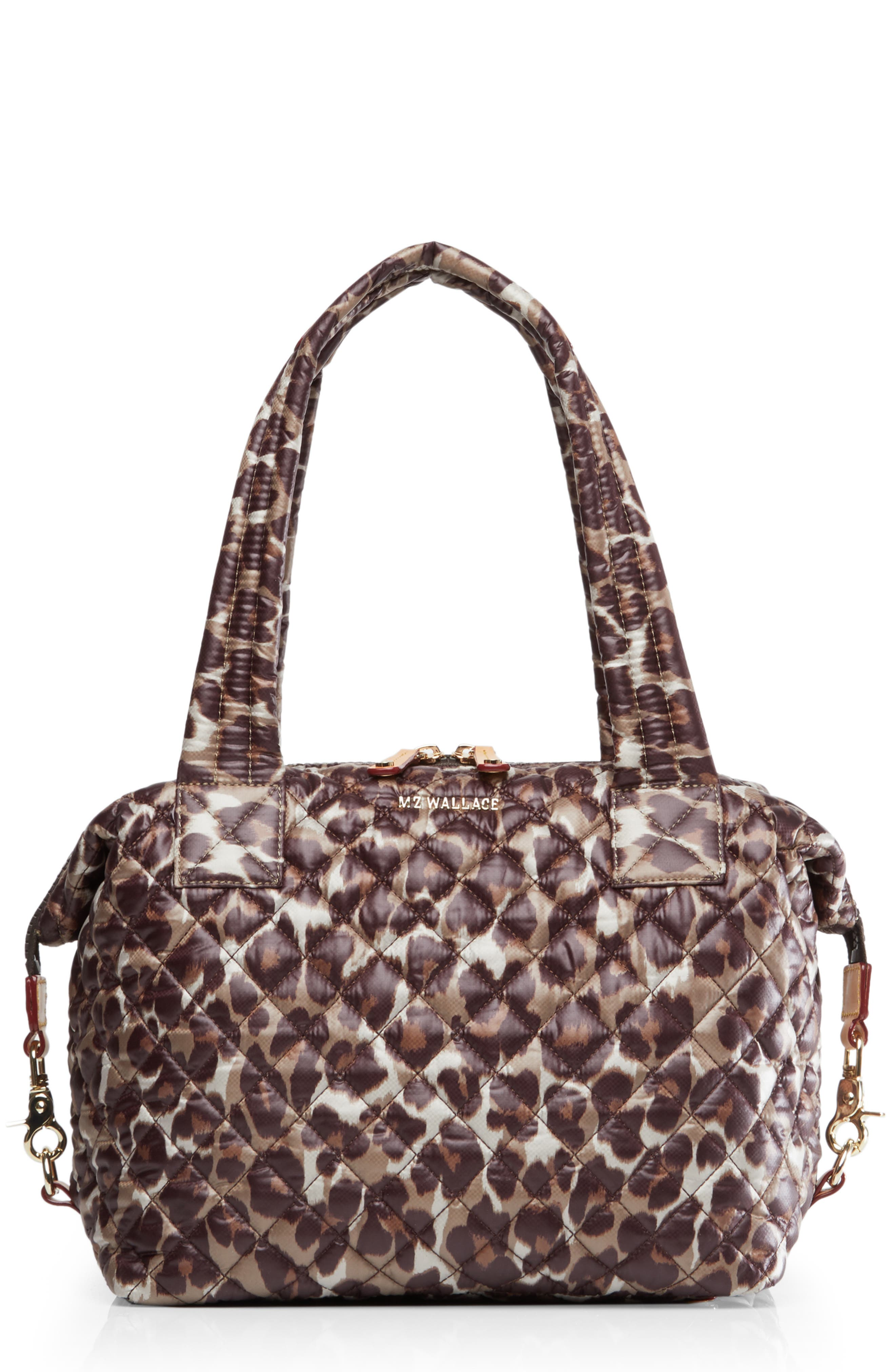 Medium Sutton Shoulder Tote,                             Main thumbnail 1, color,                             LEOPARD PRINT