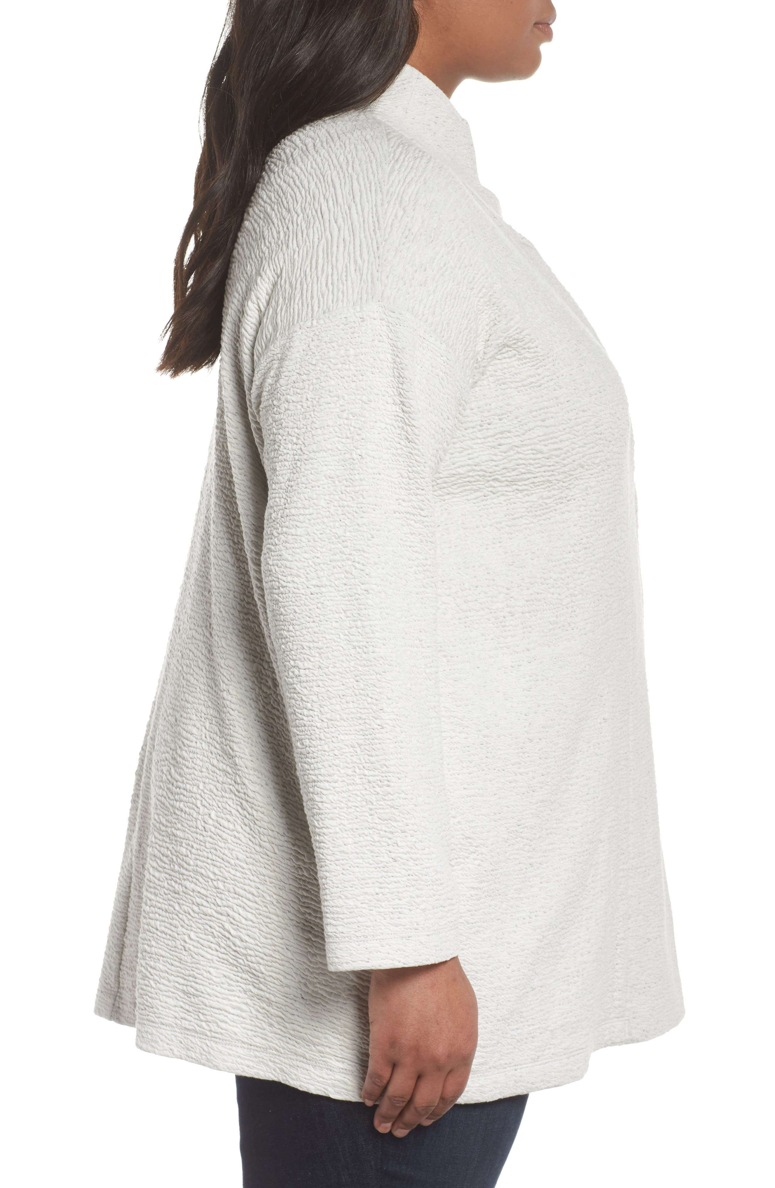Textured Tencel<sup>®</sup> Lyocell Kimono Jacket,                             Alternate thumbnail 3, color,                             100