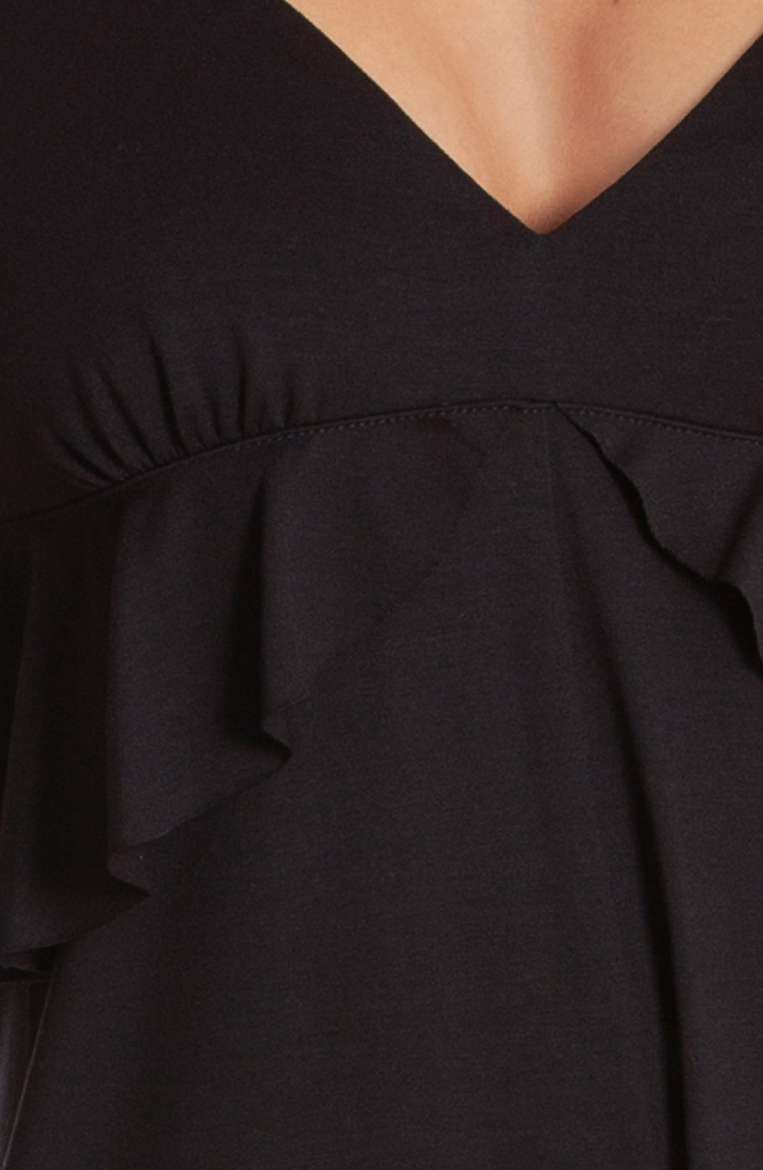 Iggy Cropped Jumpsuit,                             Alternate thumbnail 4, color,                             BLACK