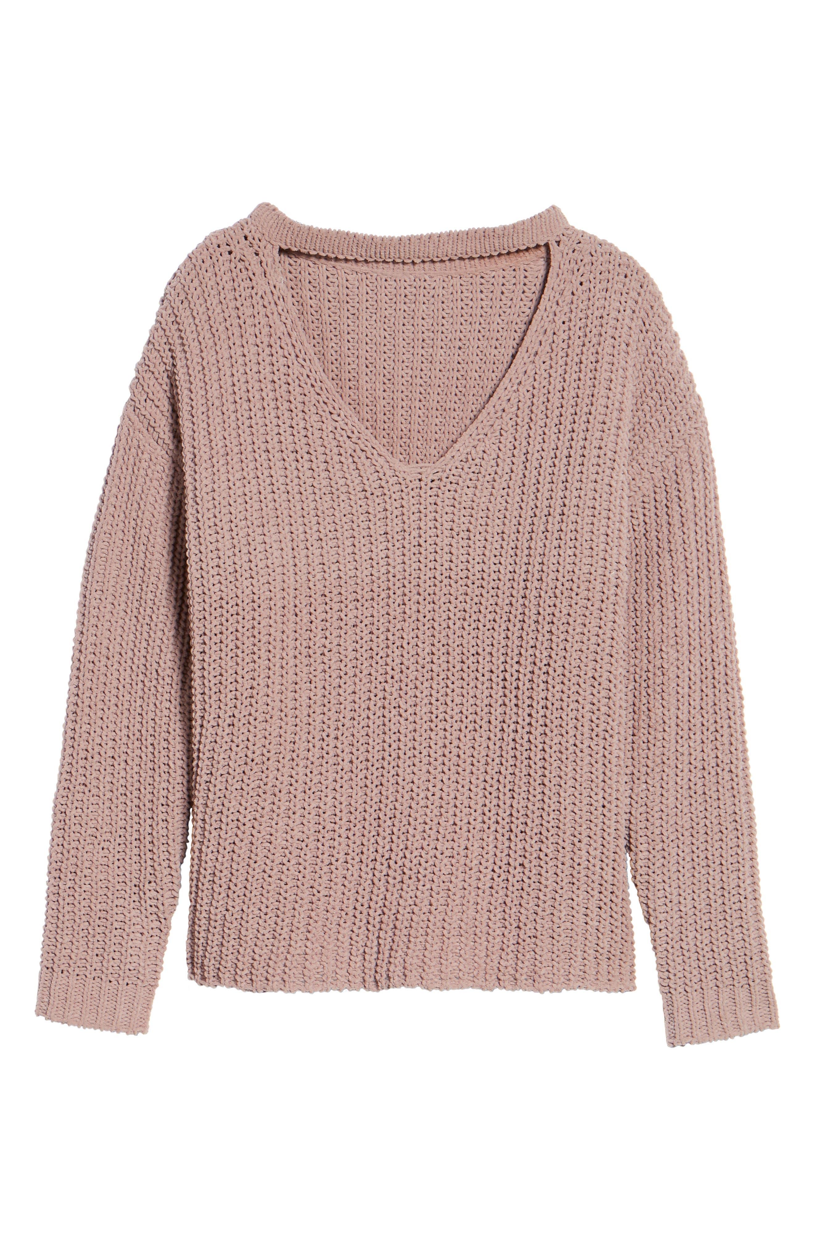 Mary Lous Choker Sweater,                             Alternate thumbnail 12, color,