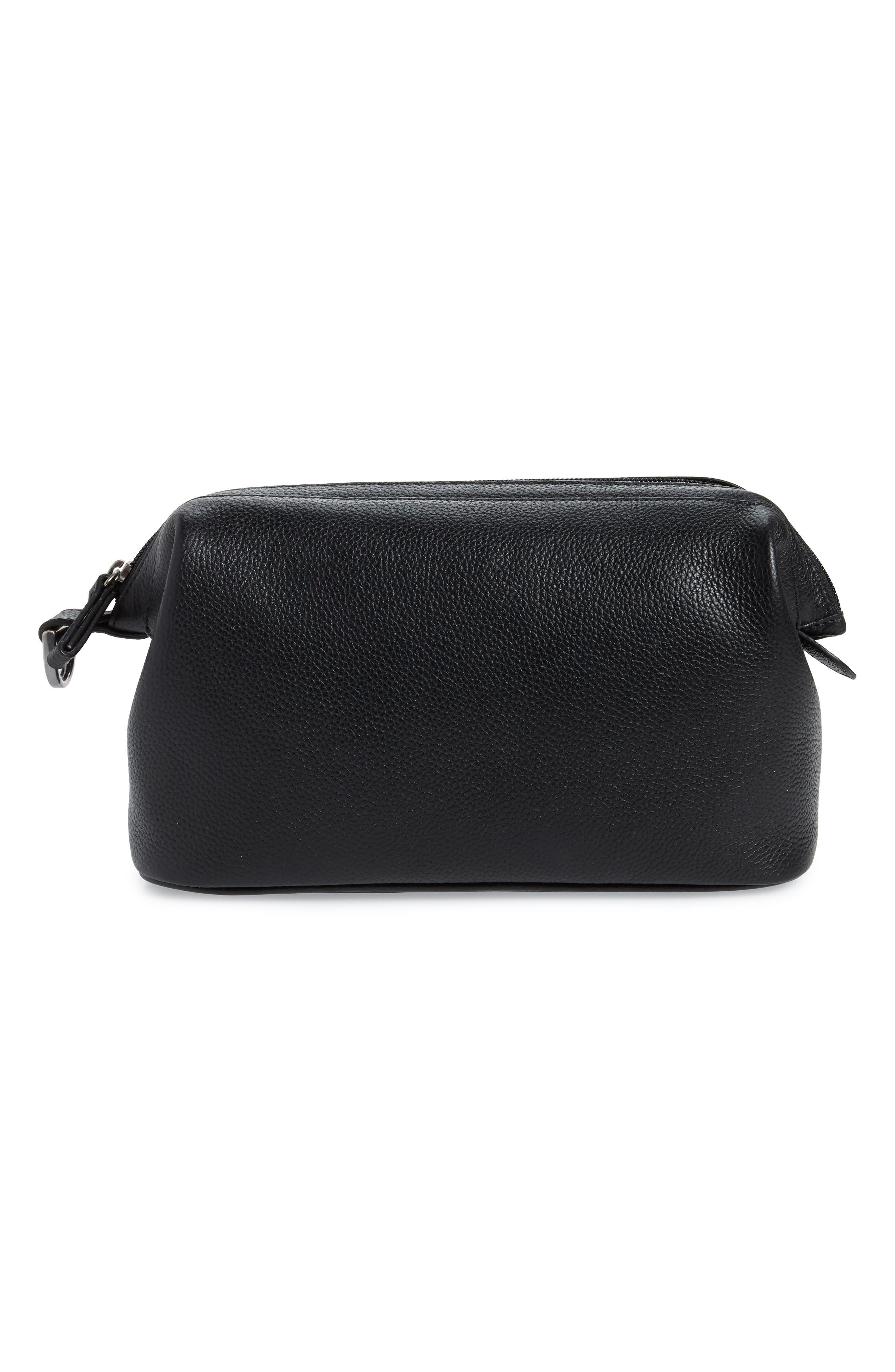 Midland Leather Dopp Kit,                             Main thumbnail 1, color,                             BLACK