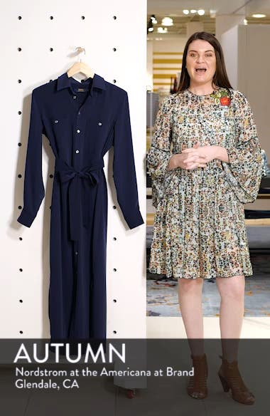 Belted Midi Shirtdress, sales video thumbnail