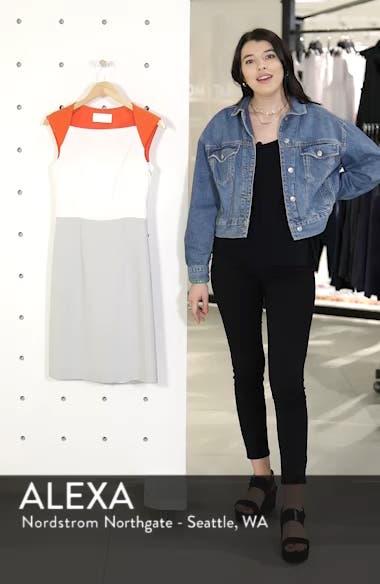 Dekala Colorblock Sheath Dress, sales video thumbnail