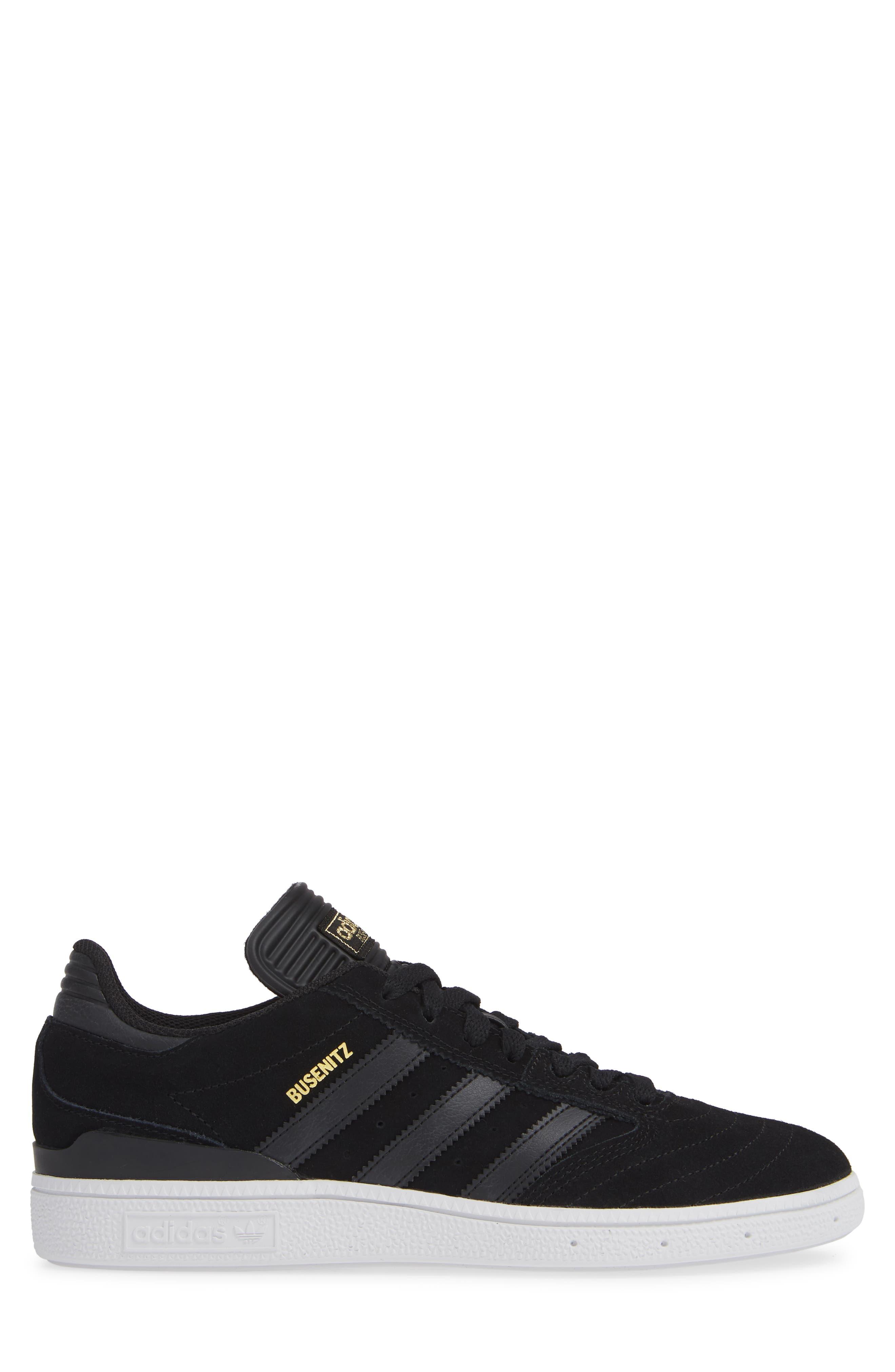 Busenitz Sneaker,                             Alternate thumbnail 3, color,                             BLACK/ BLACK/ WHITE