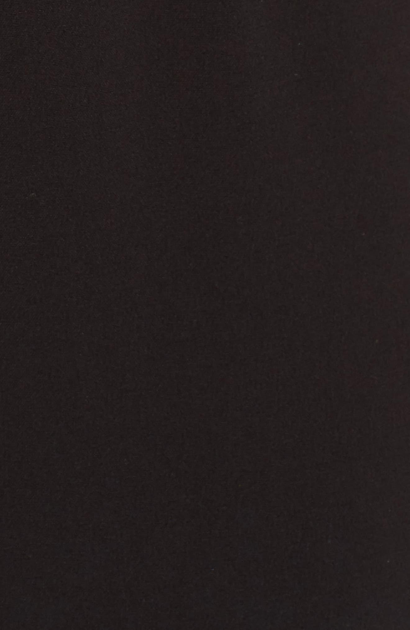 Peplum Jumpsuit,                             Alternate thumbnail 6, color,                             BLACK