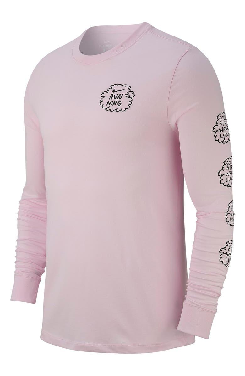 Nike Dry Long-Sleeve Running T-Shirt  e7b655cce