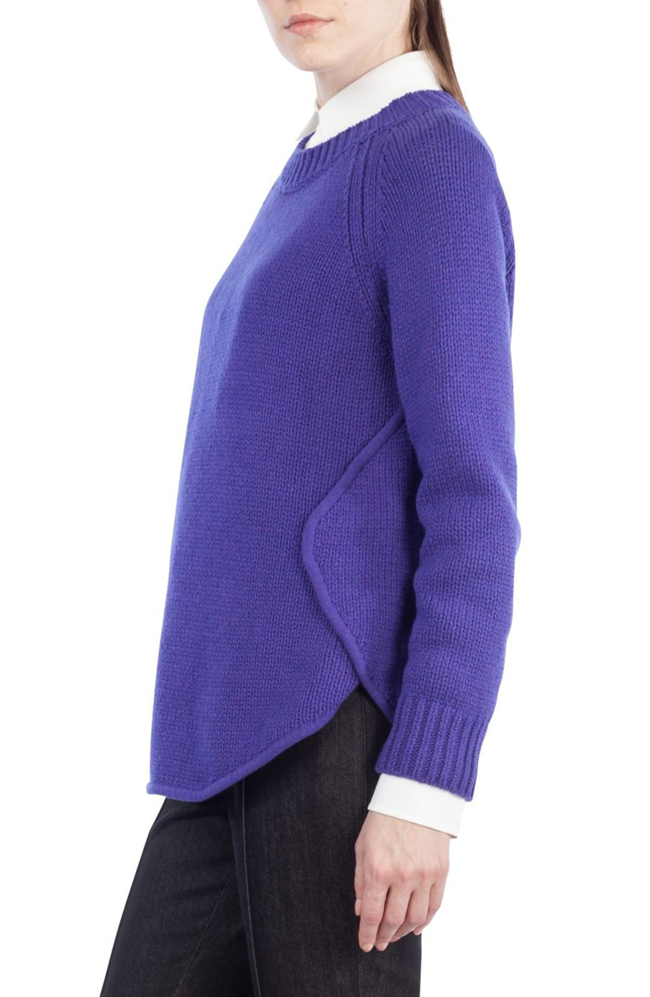 Quadrant Circle Cashmere Blend Pullover,                             Alternate thumbnail 6, color,