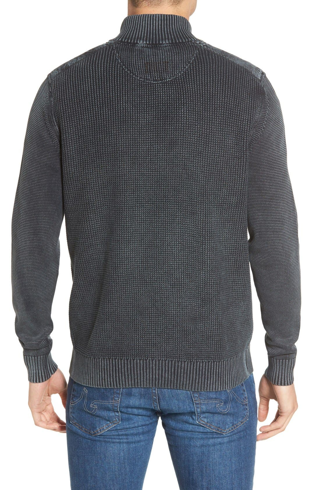 'Coastal Shores' Quarter Zip Sweater,                             Alternate thumbnail 13, color,