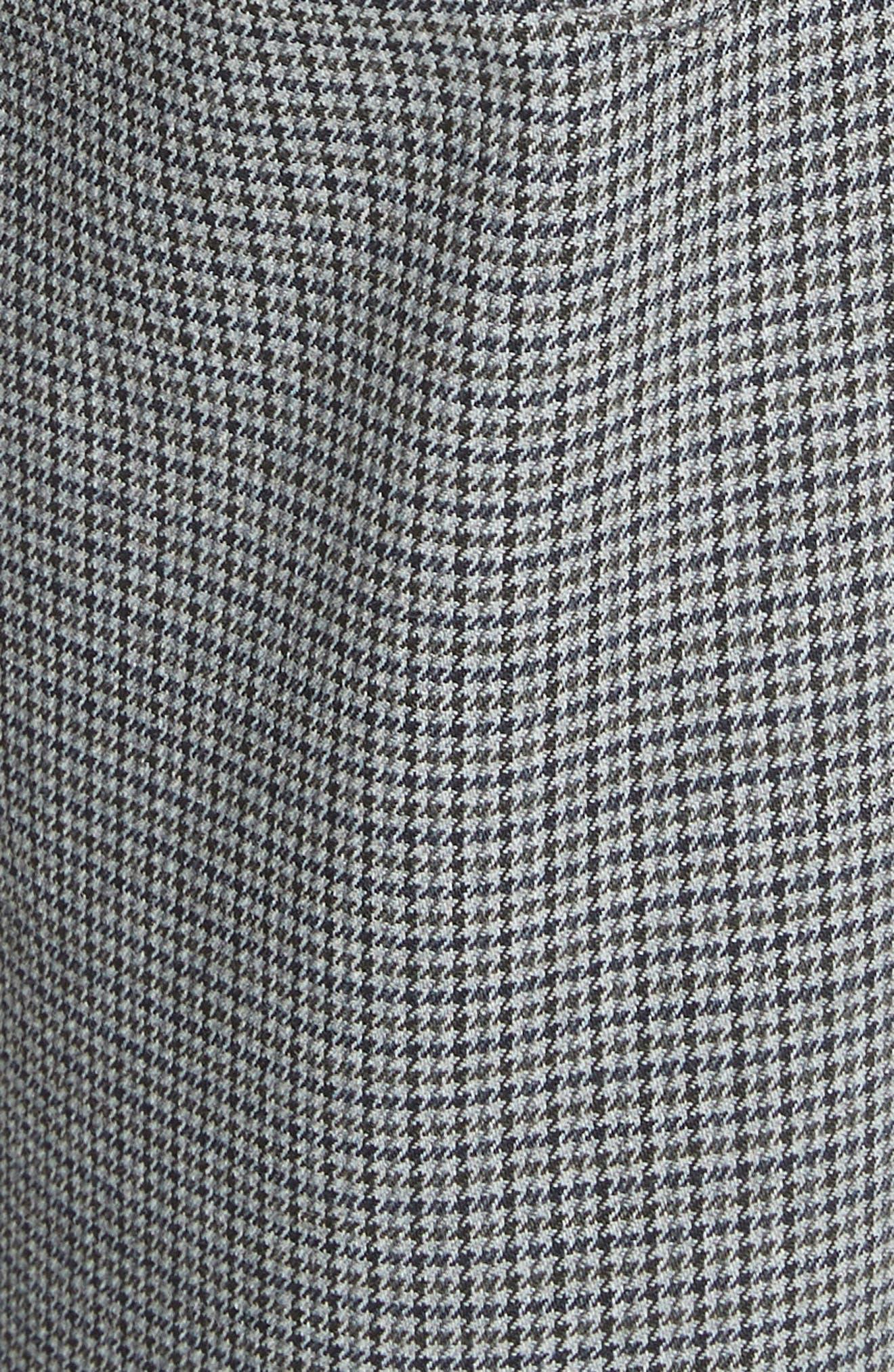 ALEXANDER WANG,                             Skinny Plaid Pants,                             Alternate thumbnail 5, color,                             020