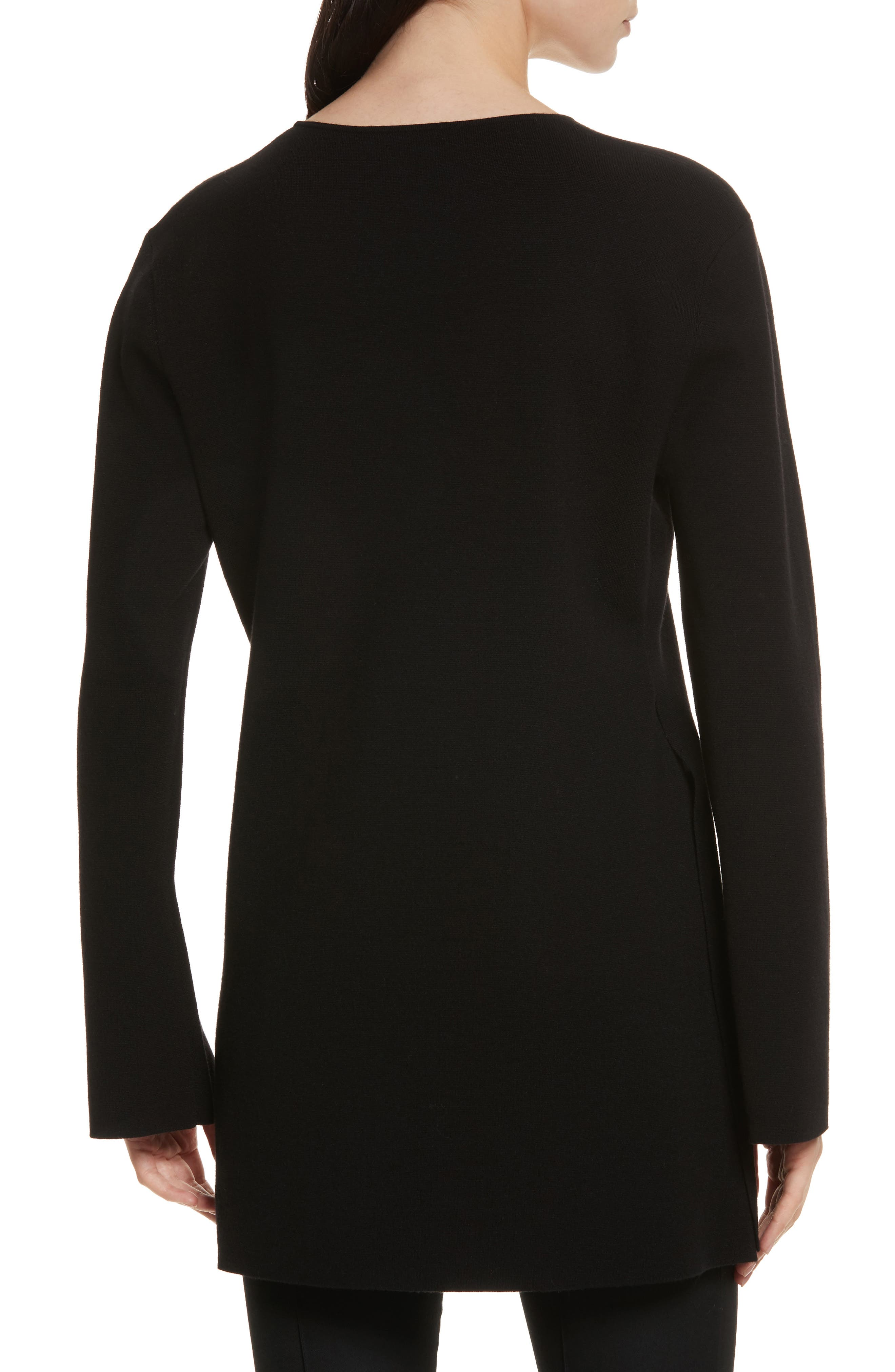 Nola Grommet Tunic Sweater,                             Alternate thumbnail 2, color,                             001