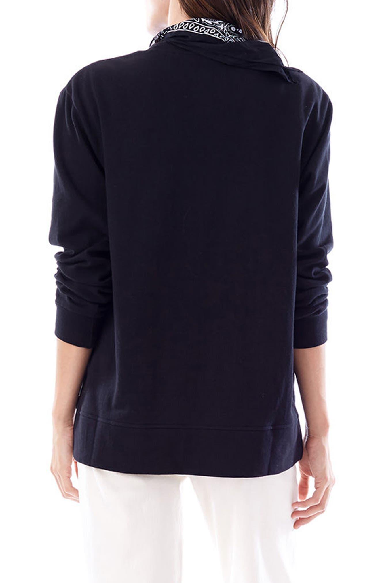 Sasha Maternity/Nursing Sweatshirt,                             Alternate thumbnail 2, color,                             BLACK