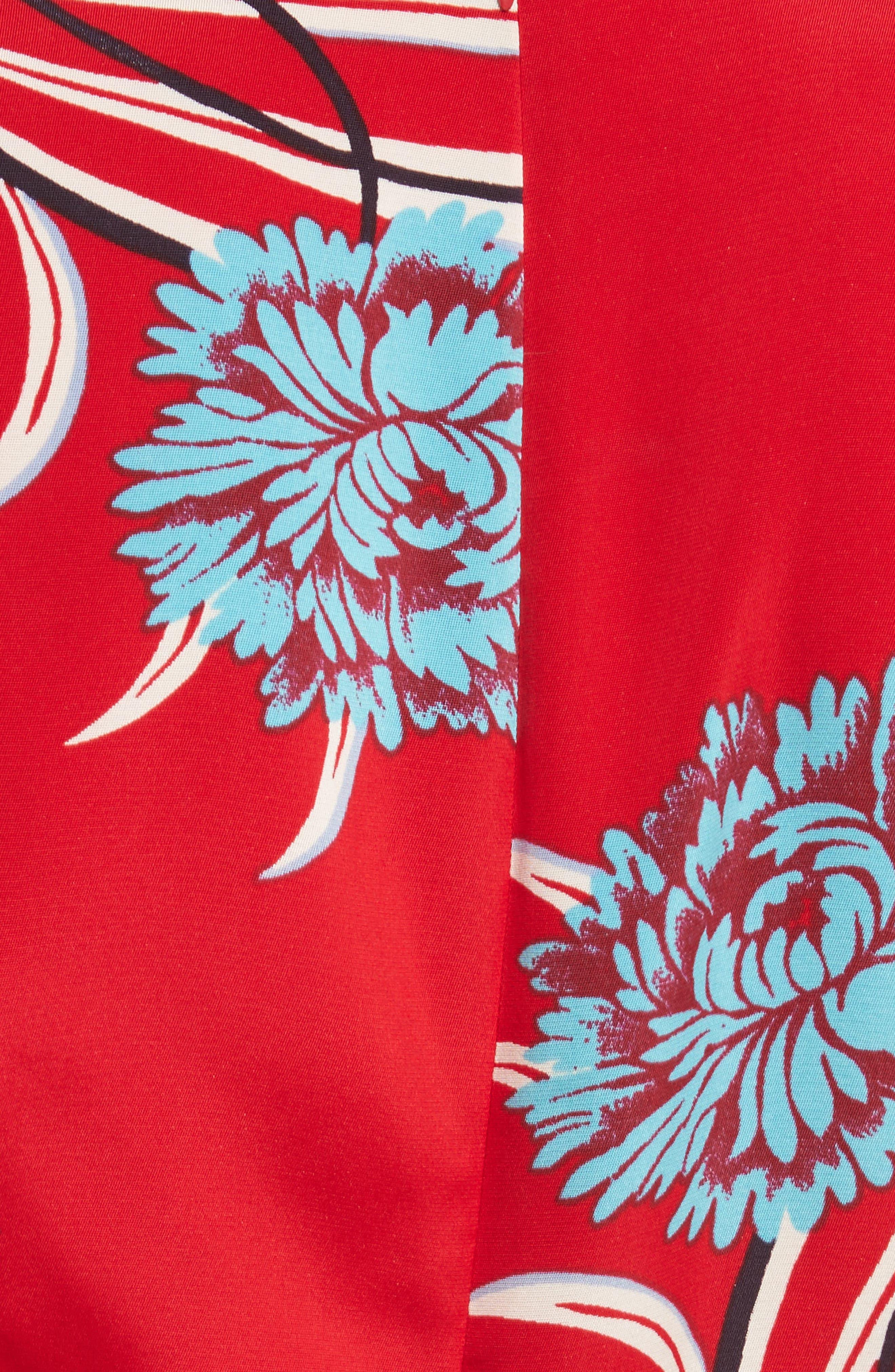 DIANE VON FURSTENBERG,                             Floral Print Crossover Jumpsuit,                             Alternate thumbnail 5, color,                             648