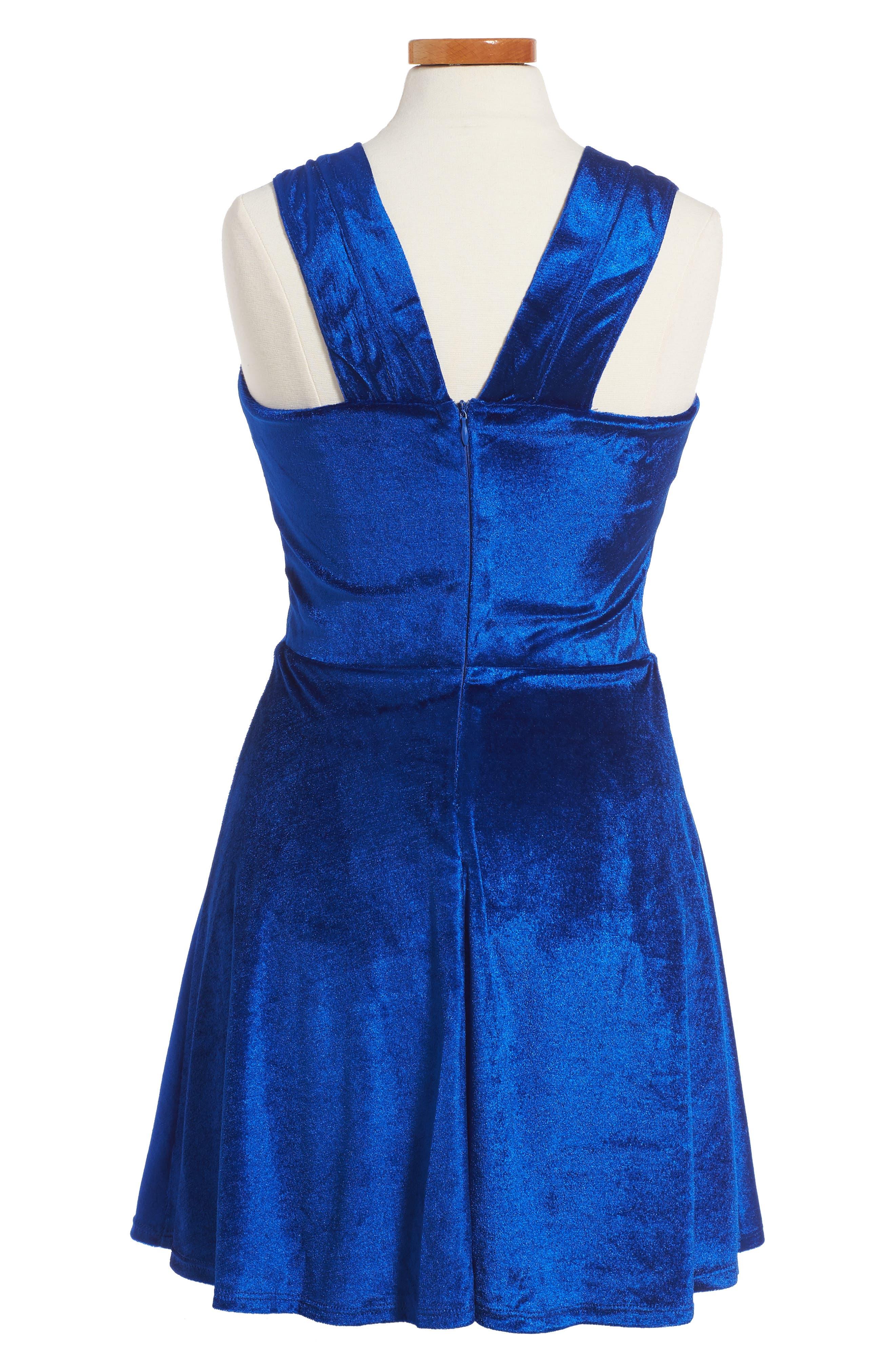 Nancy Velvet Dress,                             Alternate thumbnail 2, color,                             420