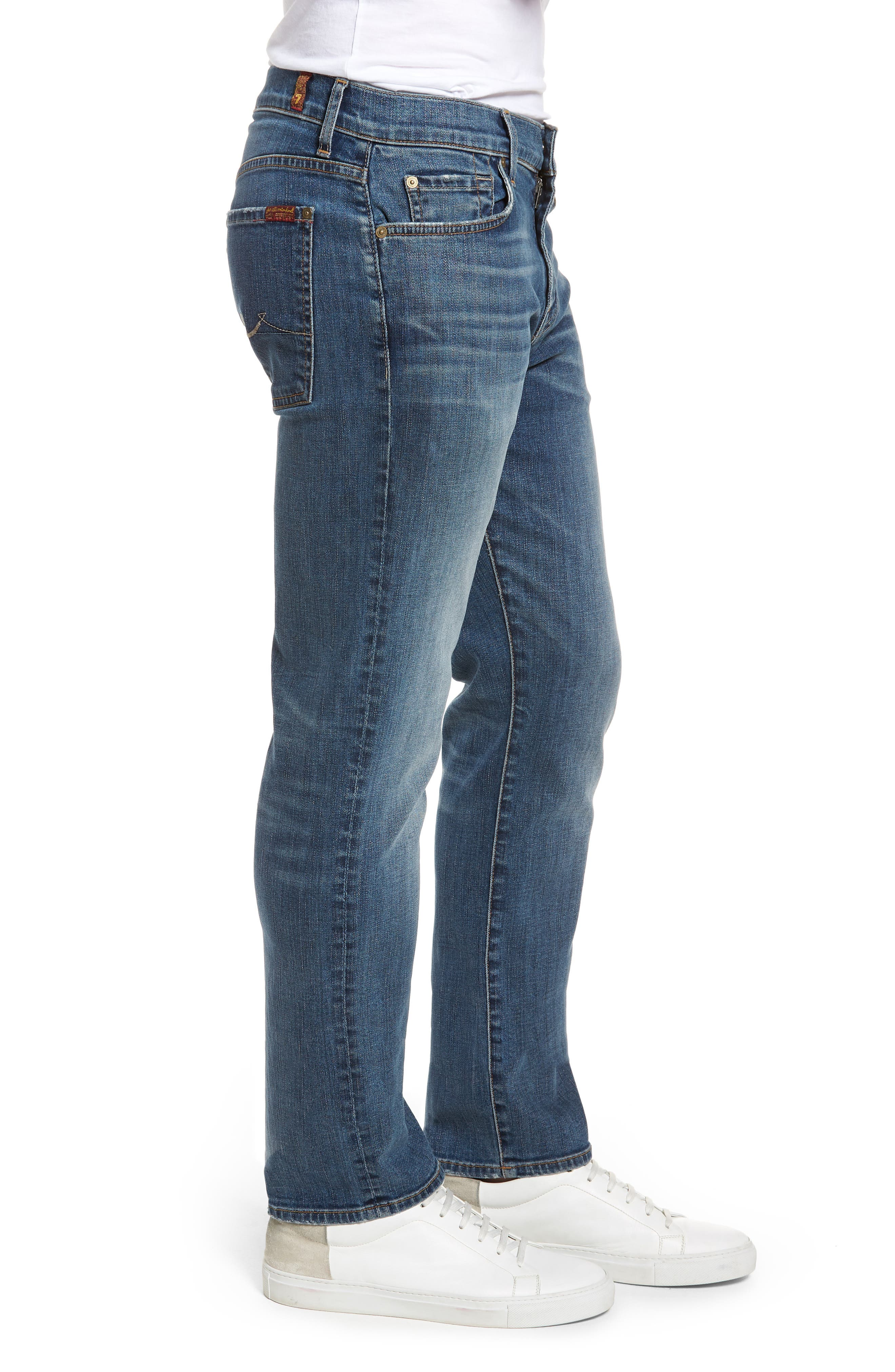 Standard Straight Leg Jeans,                             Alternate thumbnail 3, color,                             BEDROCK