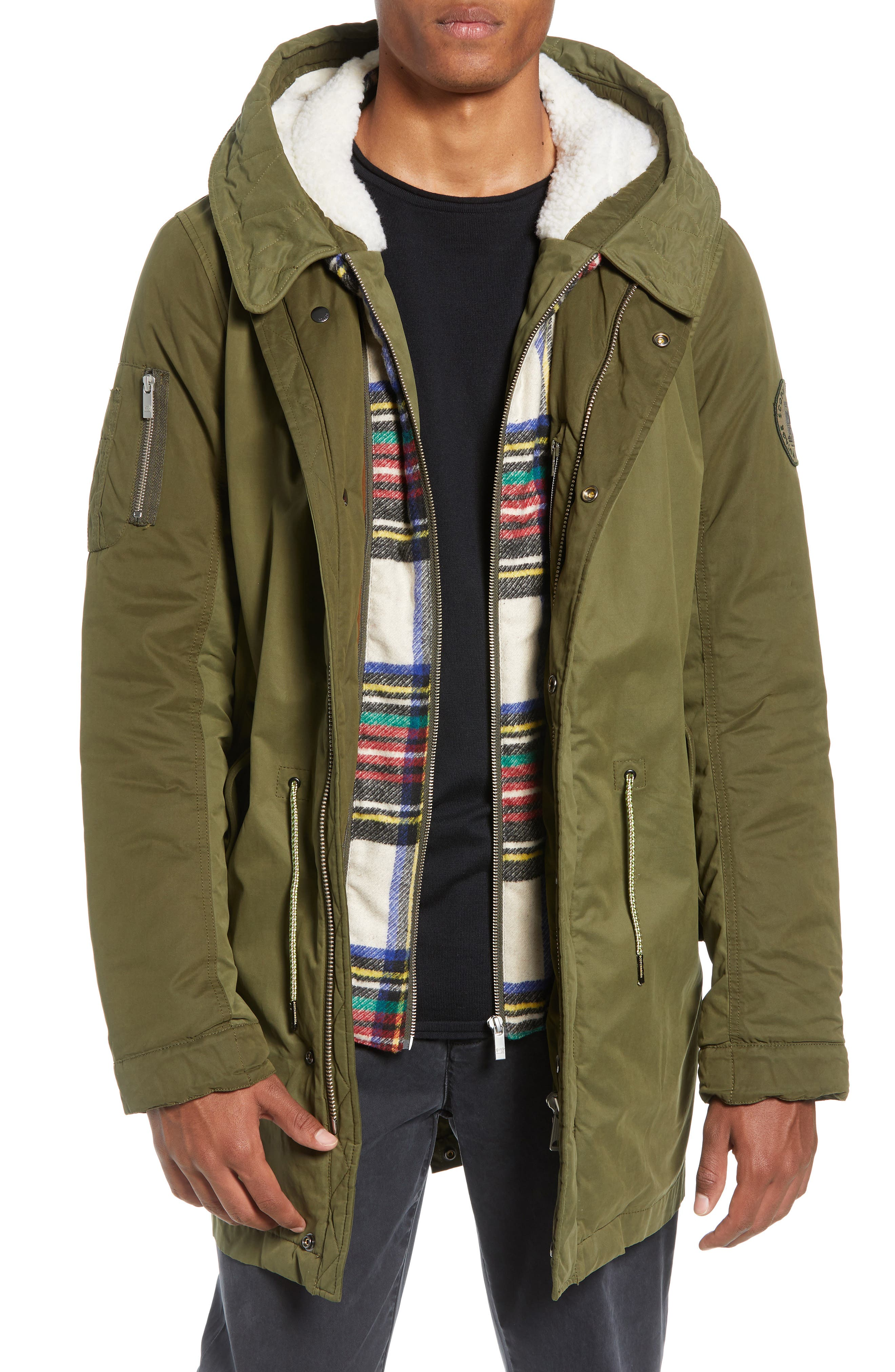 Seasonal Parka with Removable Lining and Detachable Faux Shearling Hood,                         Main,                         color, 301