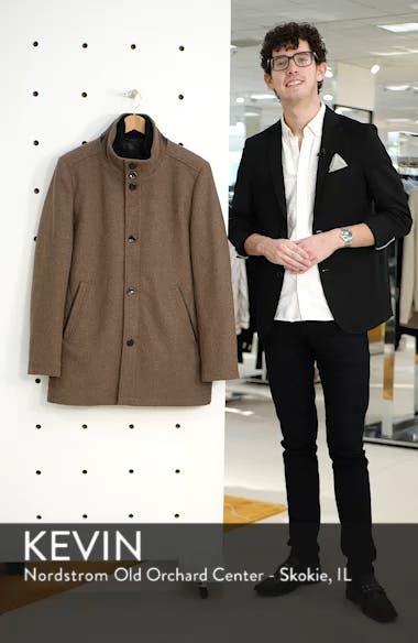Classic Wool Blend Car Coat with Inset Bib, sales video thumbnail