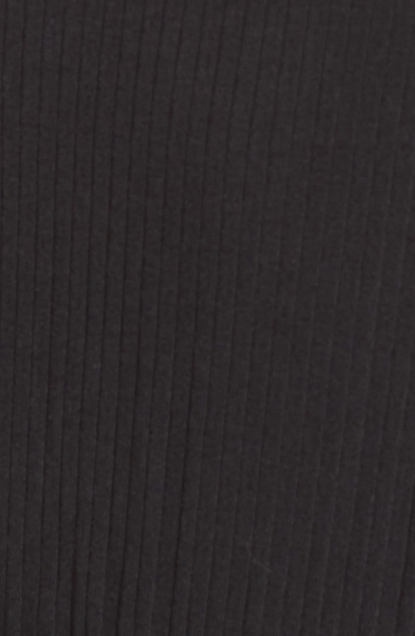 Macall Rib Knit Wide Leg Jumpsuit,                             Alternate thumbnail 6, color,                             BLACK
