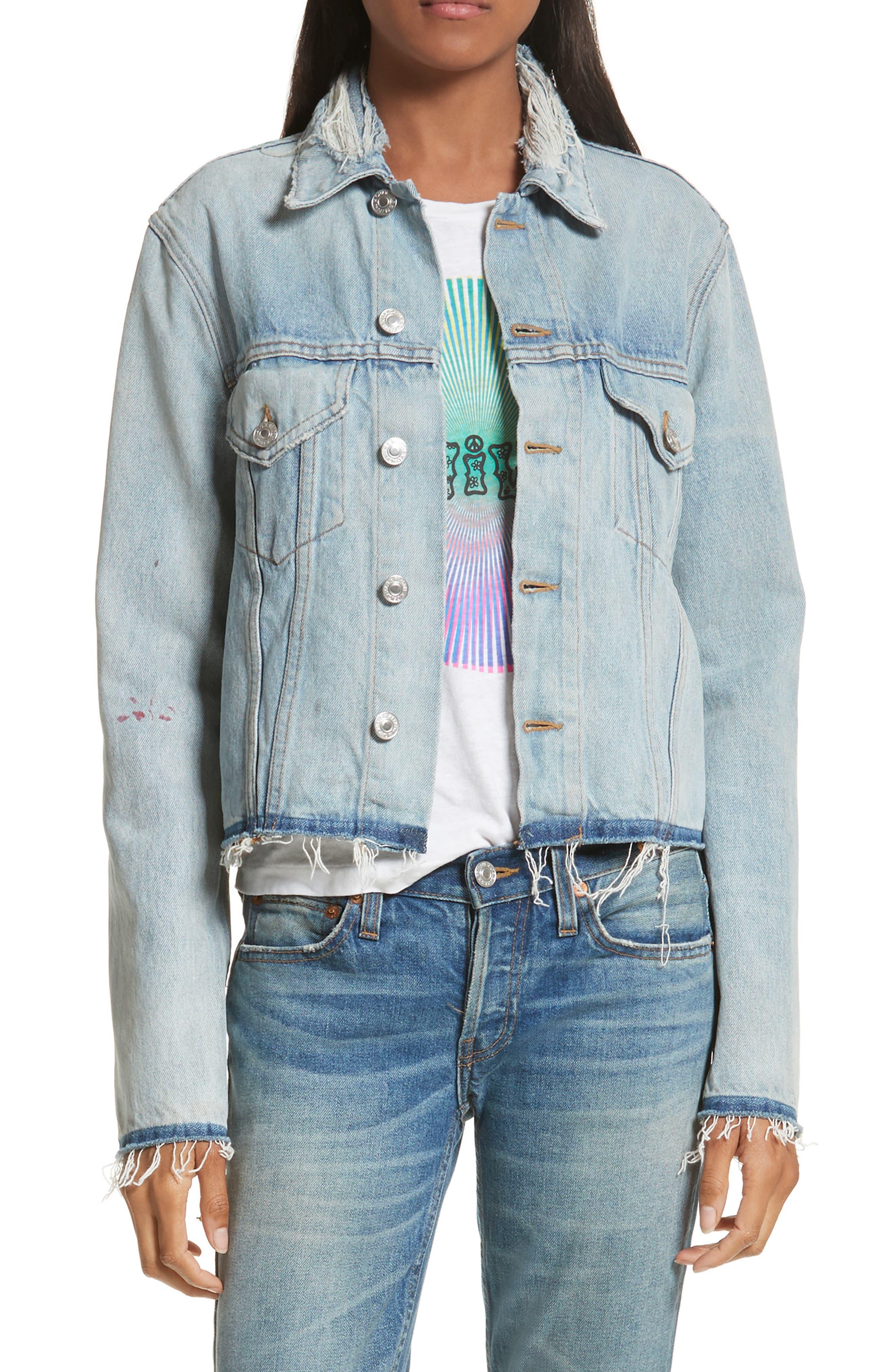 Originals Raw Edge Denim Jacket,                         Main,                         color, 402
