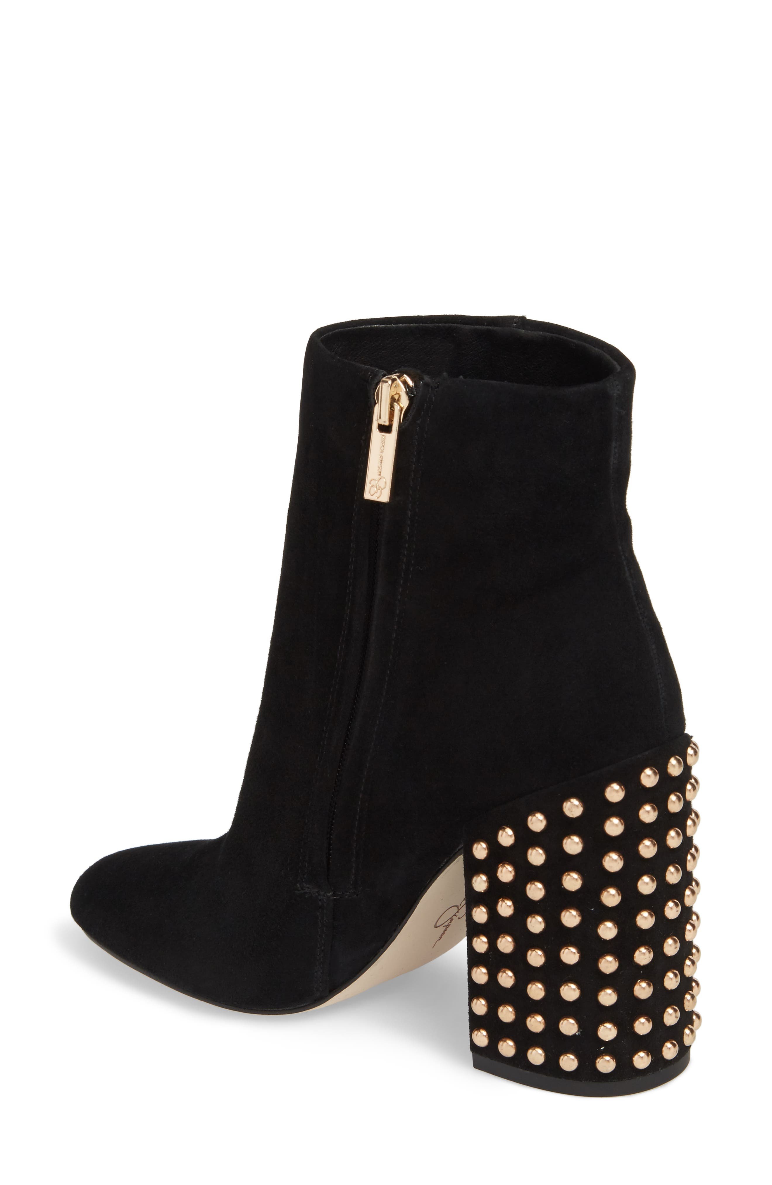 Genuine Calf Hair Wexton Bootie,                             Alternate thumbnail 2, color,                             001