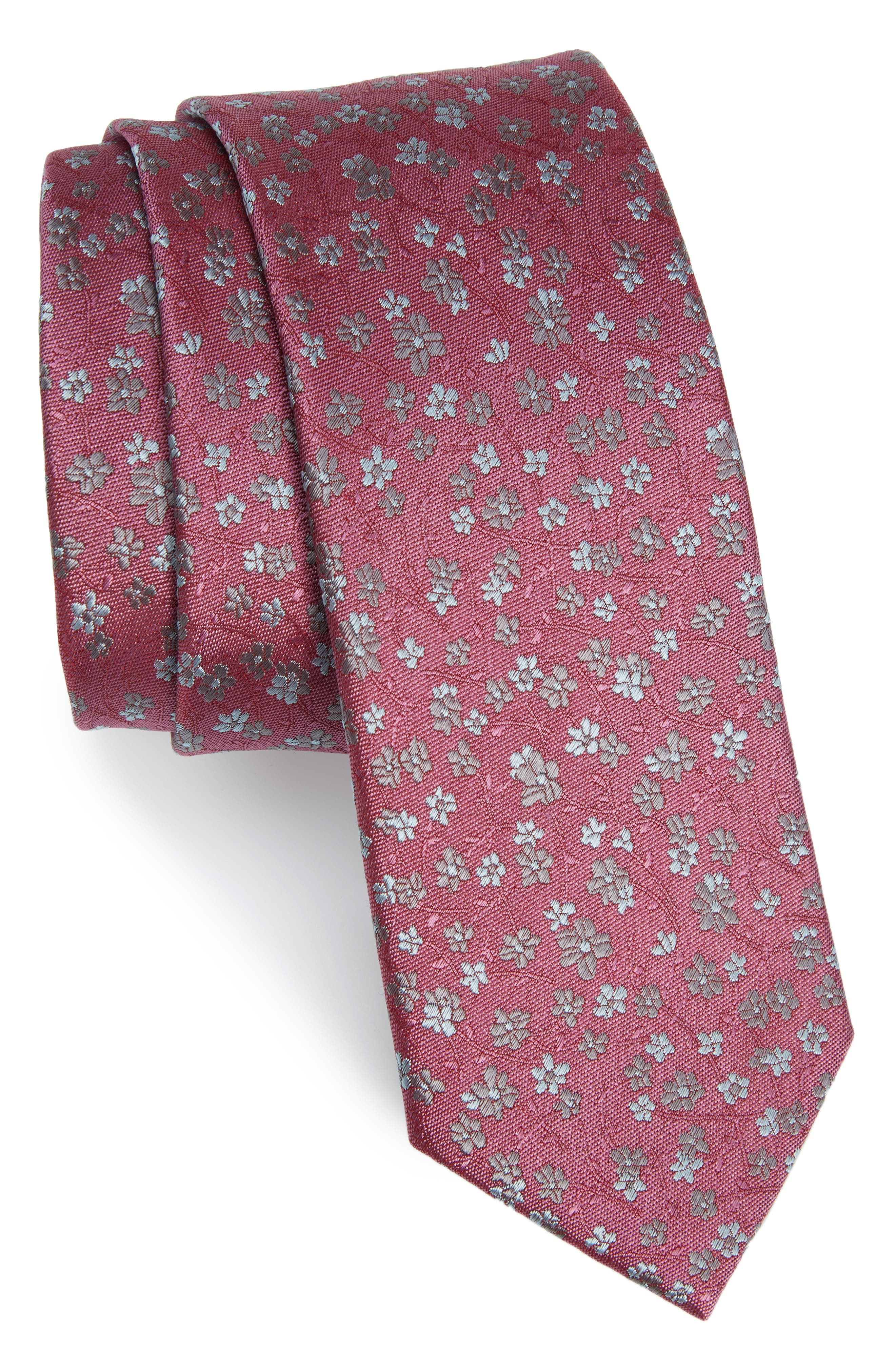 Freefall Floral Silk Tie,                             Main thumbnail 5, color,