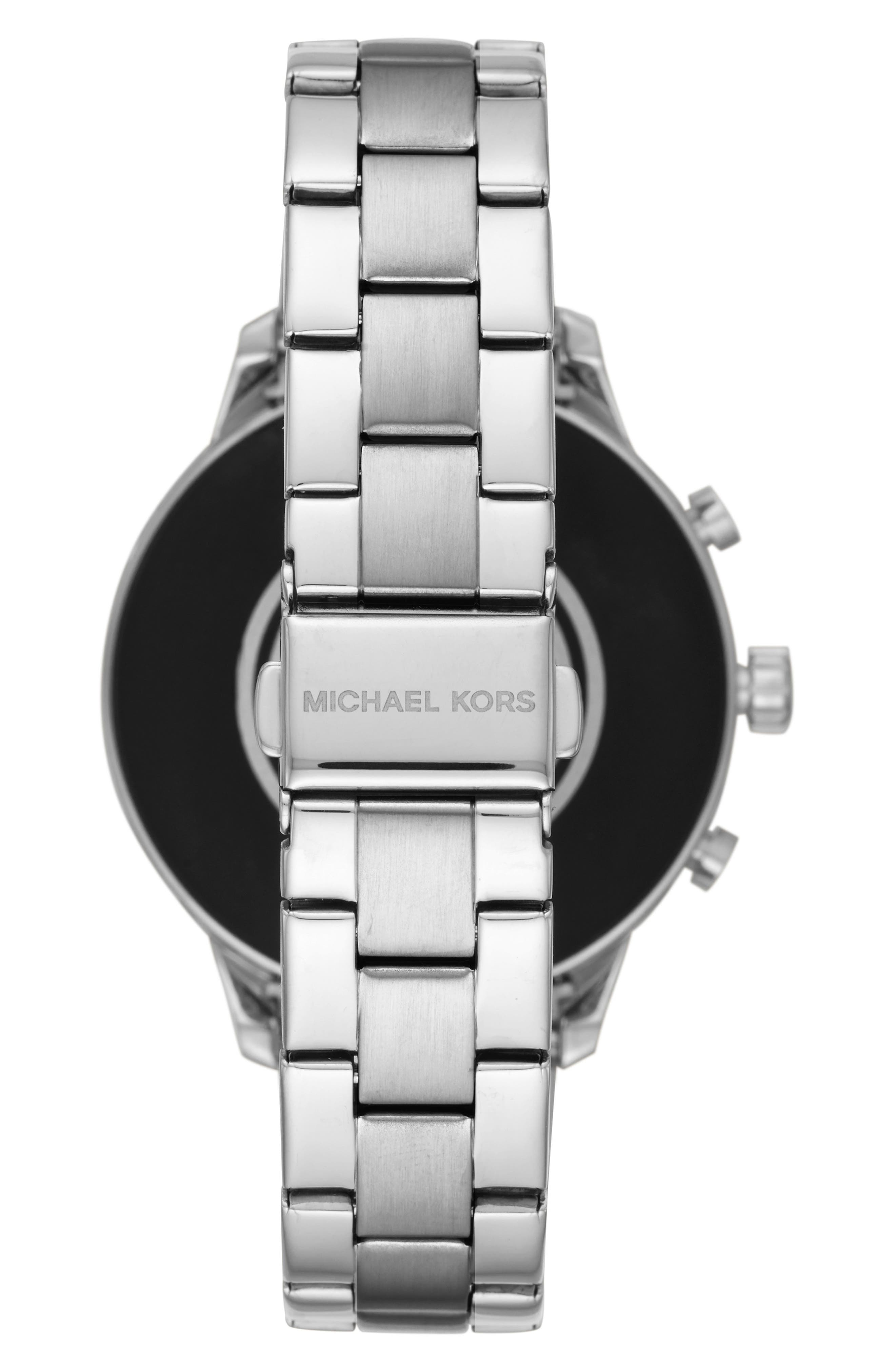 MICHAEL Michael Kors Access Runway Smart Bracelet Watch, 41mm,                             Alternate thumbnail 2, color,                             SILVER