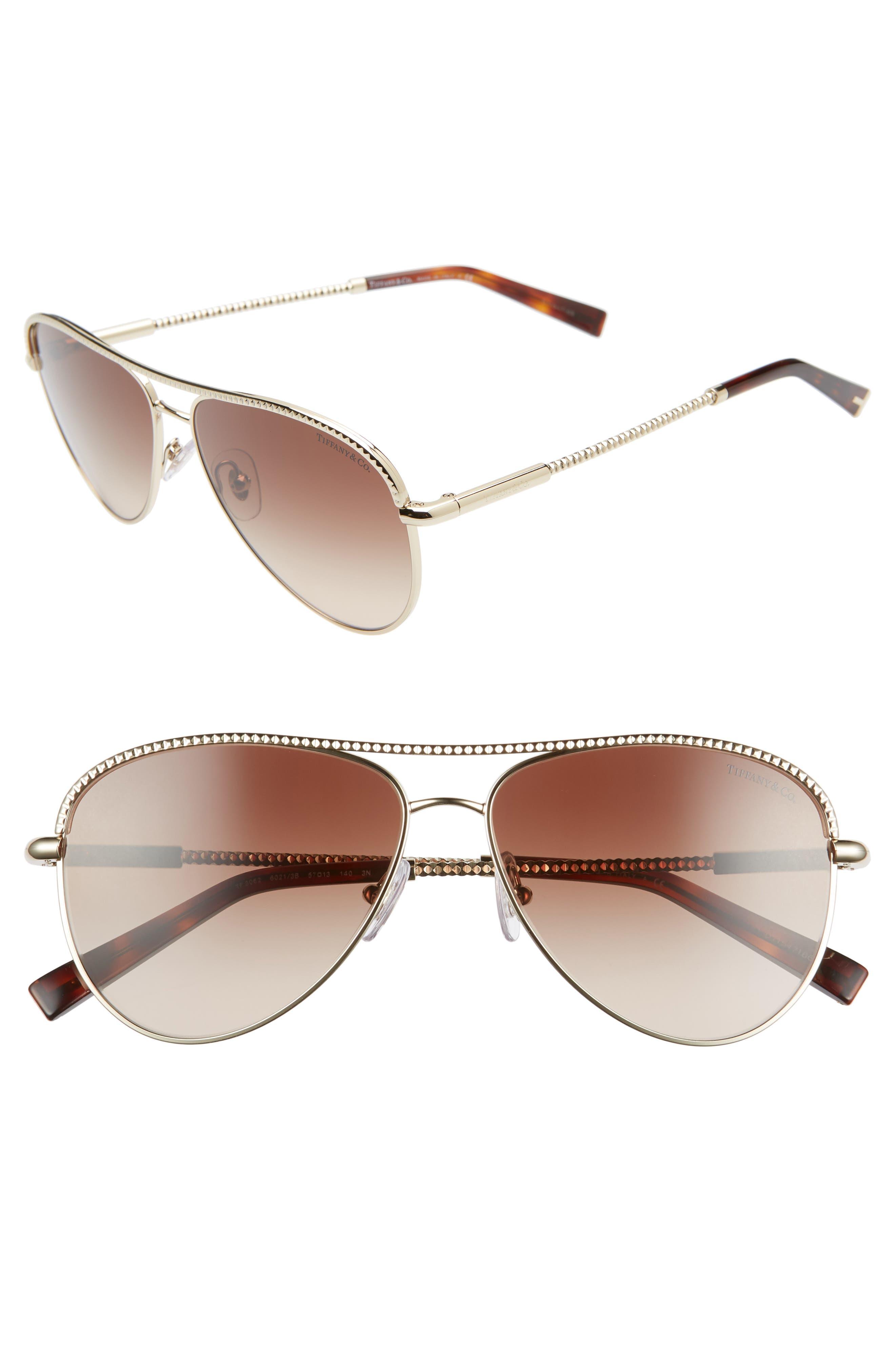 Women s Tiffany   Co 57Mm Aviator Sunglasses - Pale Gold Gradient 8175018d7a
