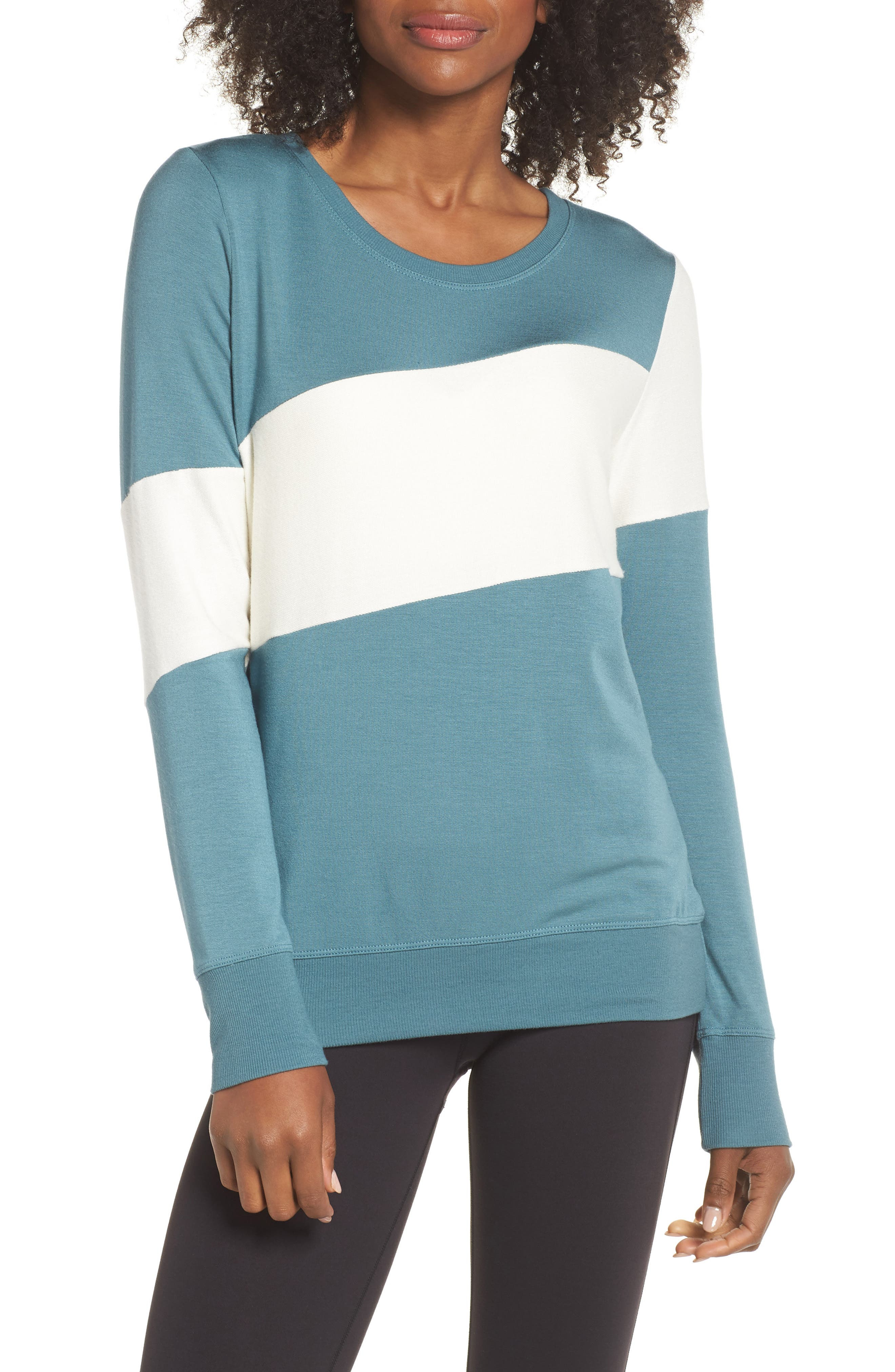Ramp Sweatshirt,                         Main,                         color, BLUE SURF/ OFF WHITE