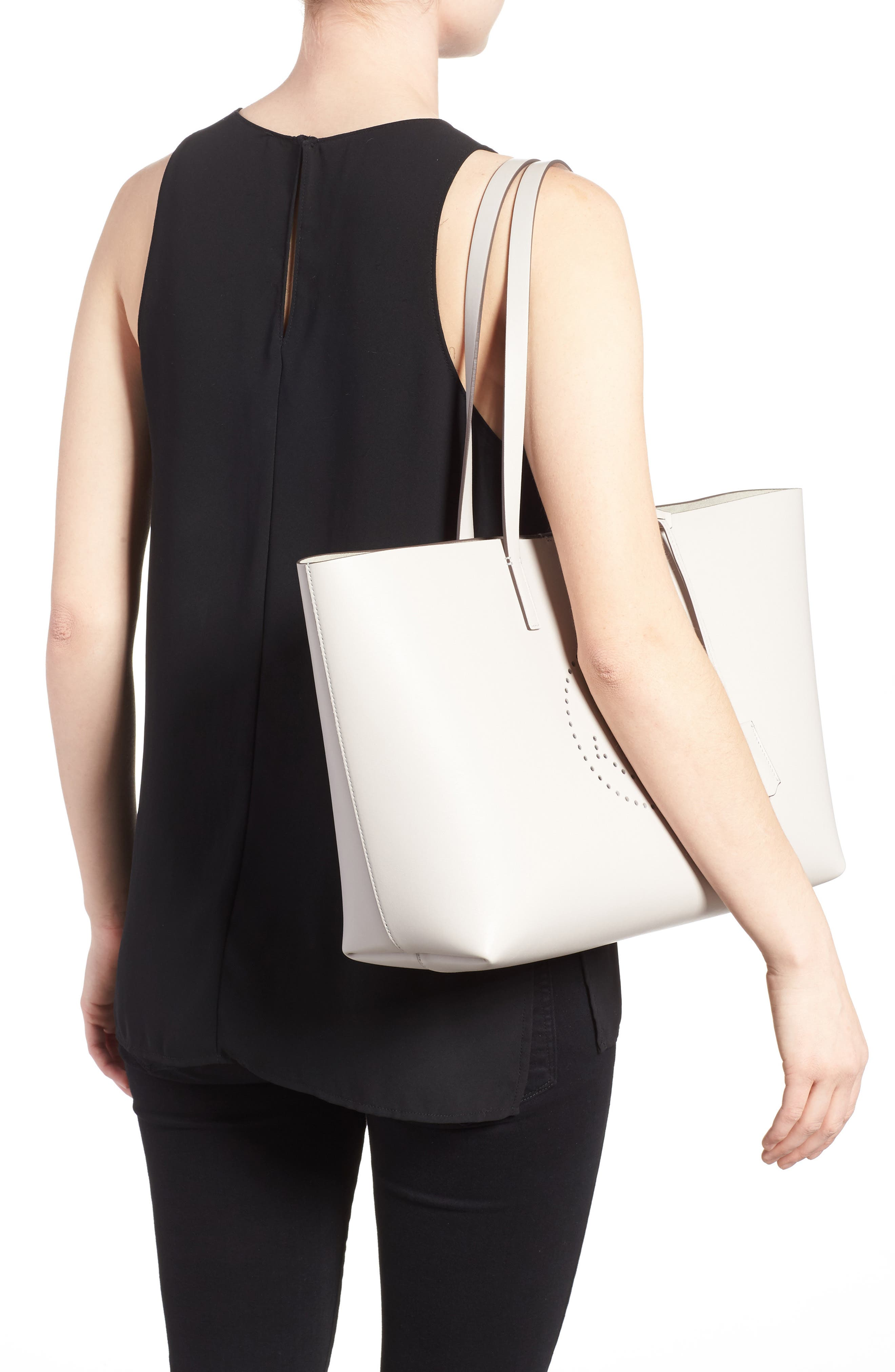 Ebury Smiley Leather Tote,                             Alternate thumbnail 2, color,                             STEAM