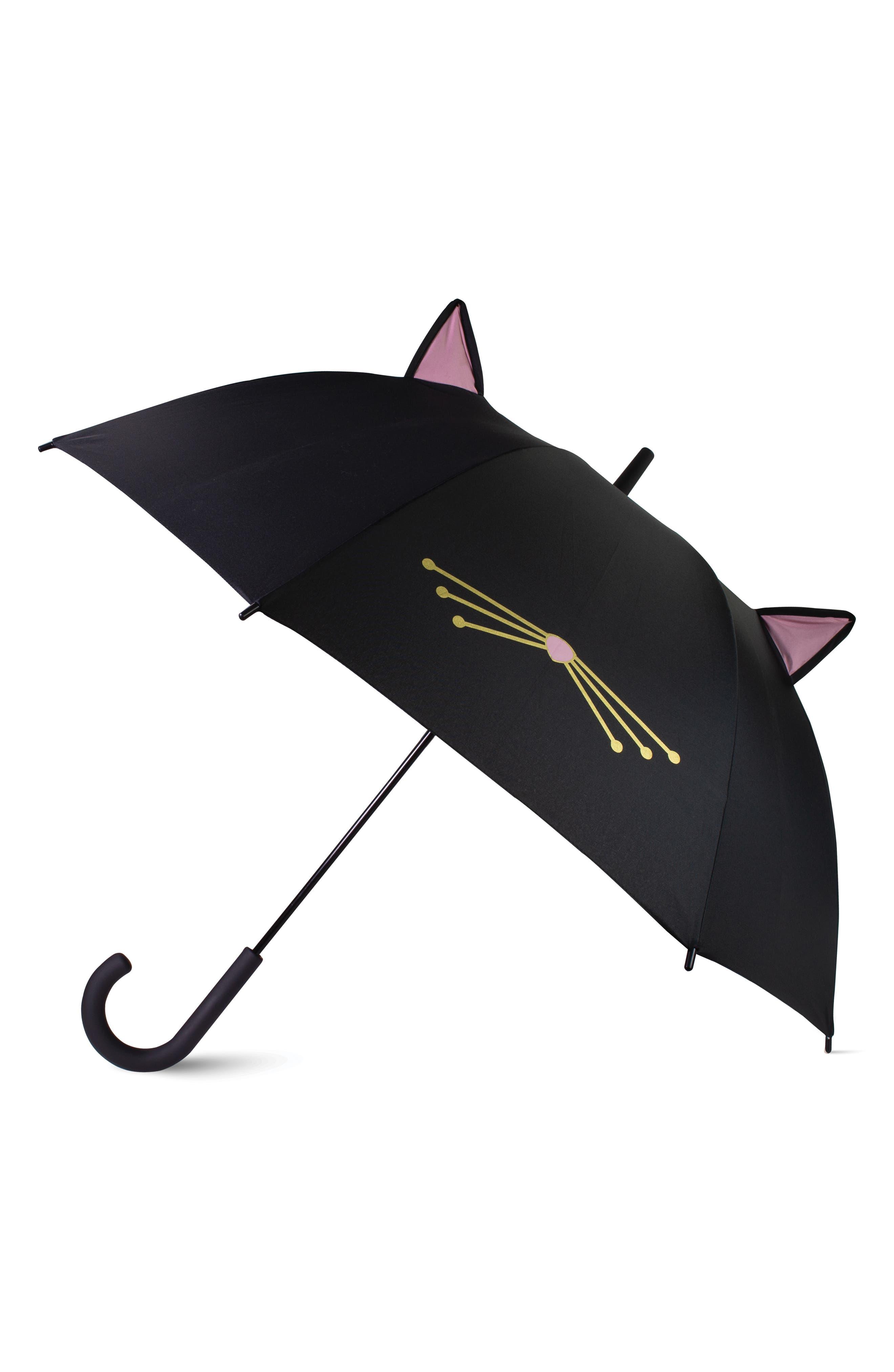 cat umbrella, Main, color, BLACK