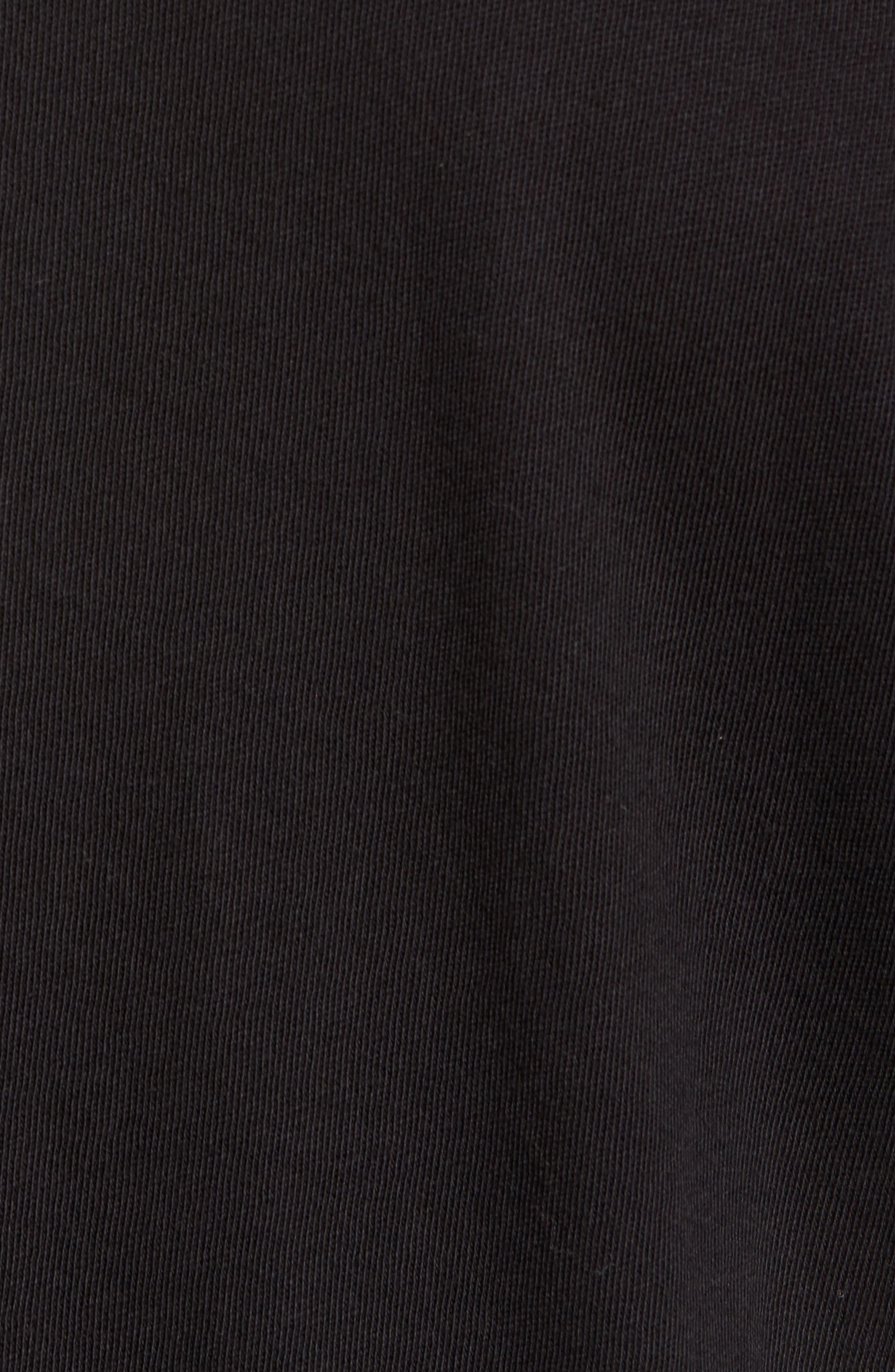 Raw Edge Long Sleeve Henley T-Shirt,                             Alternate thumbnail 5, color,                             001