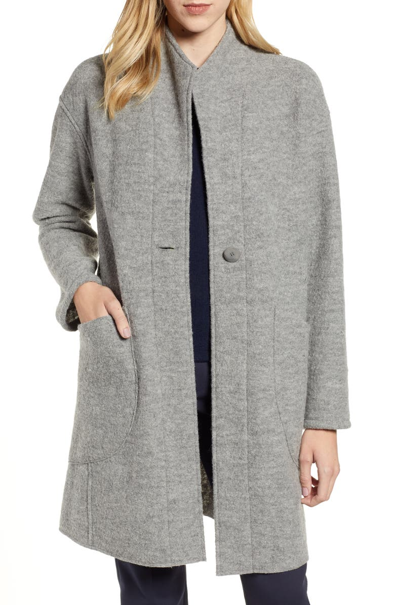 Teddy Wool Coat,                         Main,                         color, GREY