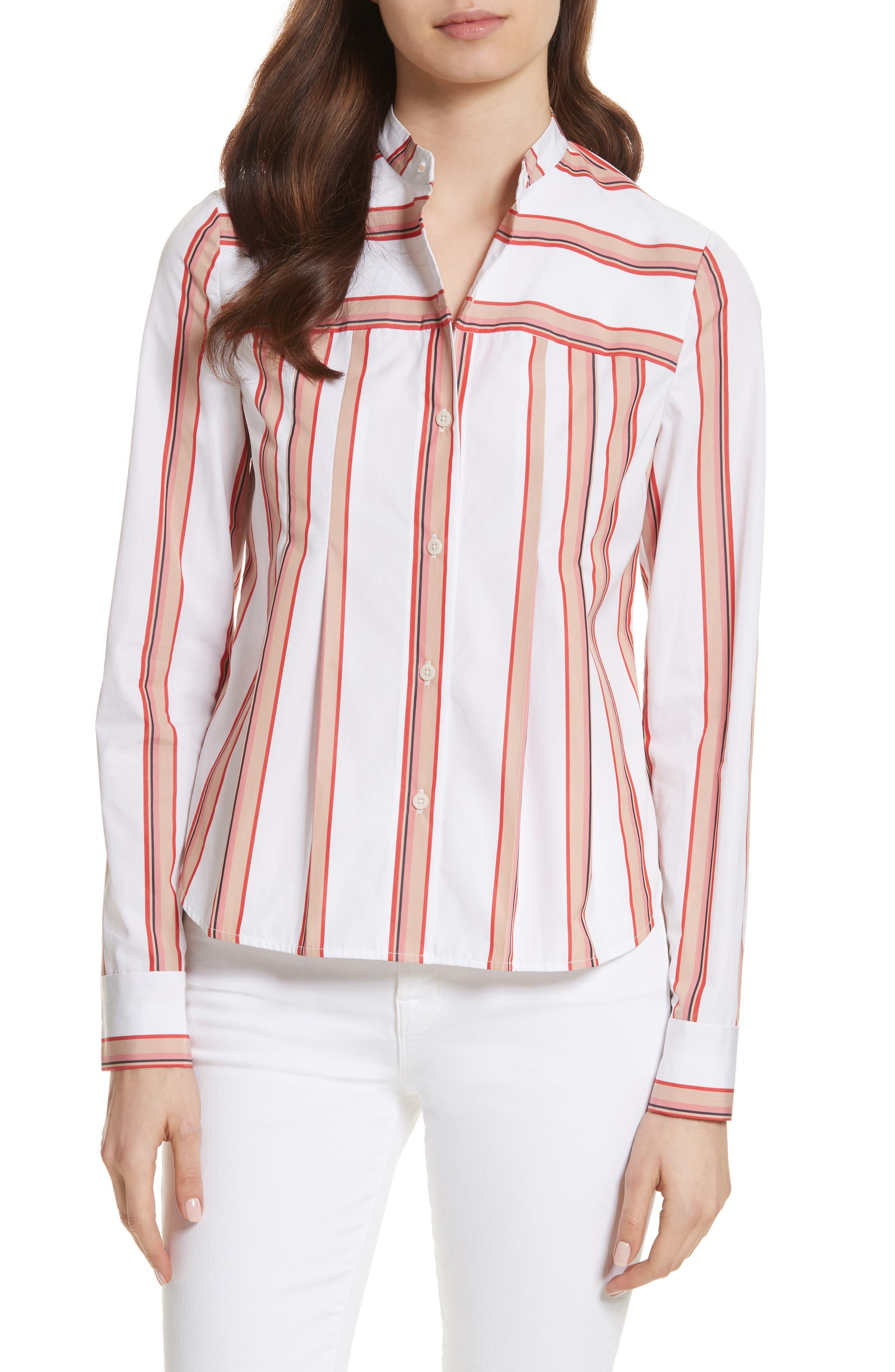 Diane von Furstenberg Stripe Shirt,                             Main thumbnail 1, color,                             107