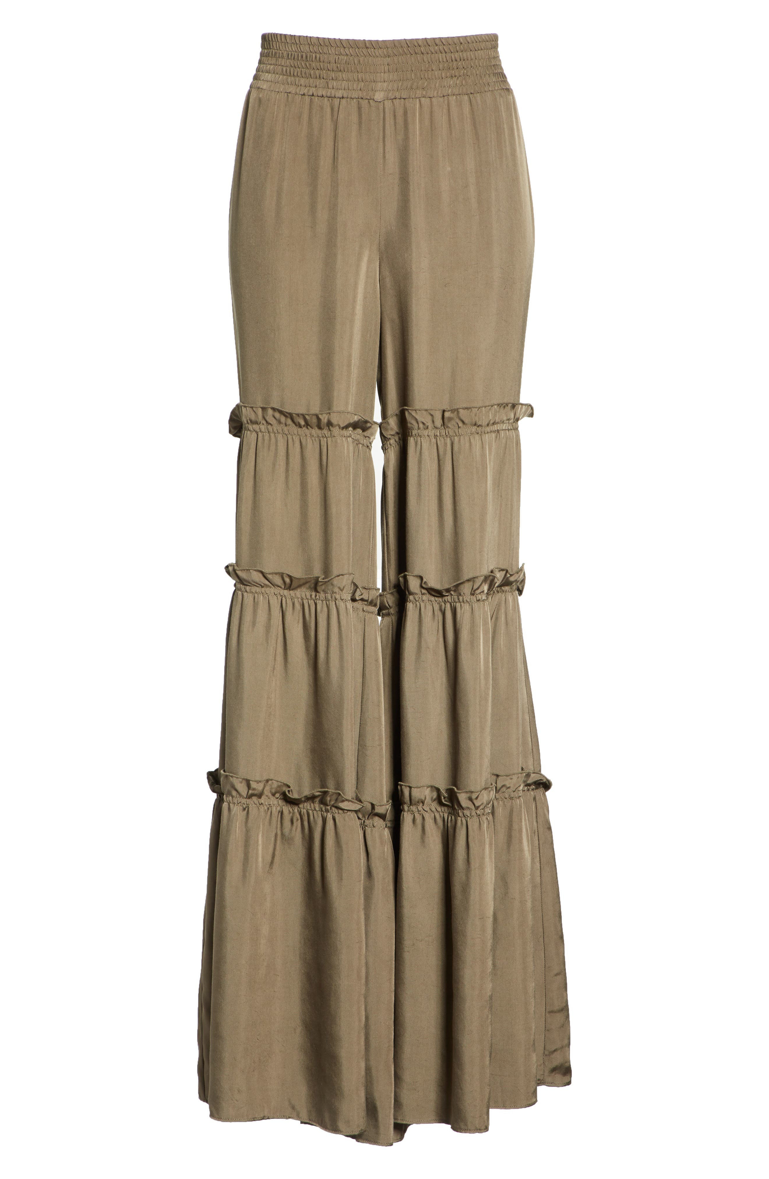 Avery Ruffle Tier Pants,                             Alternate thumbnail 6, color,                             319