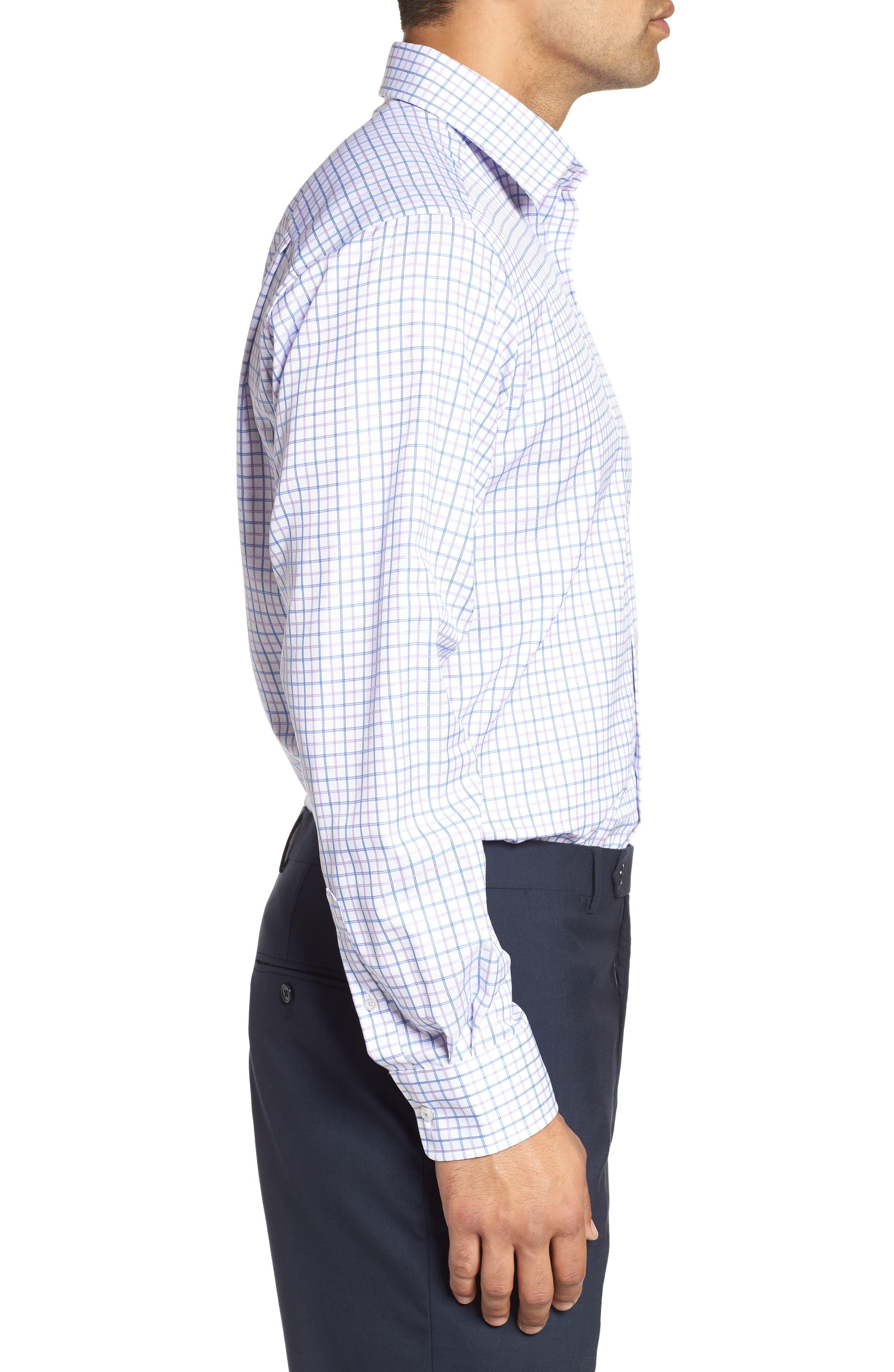 Regular Fit Check Dress Shirt,                             Alternate thumbnail 4, color,                             534