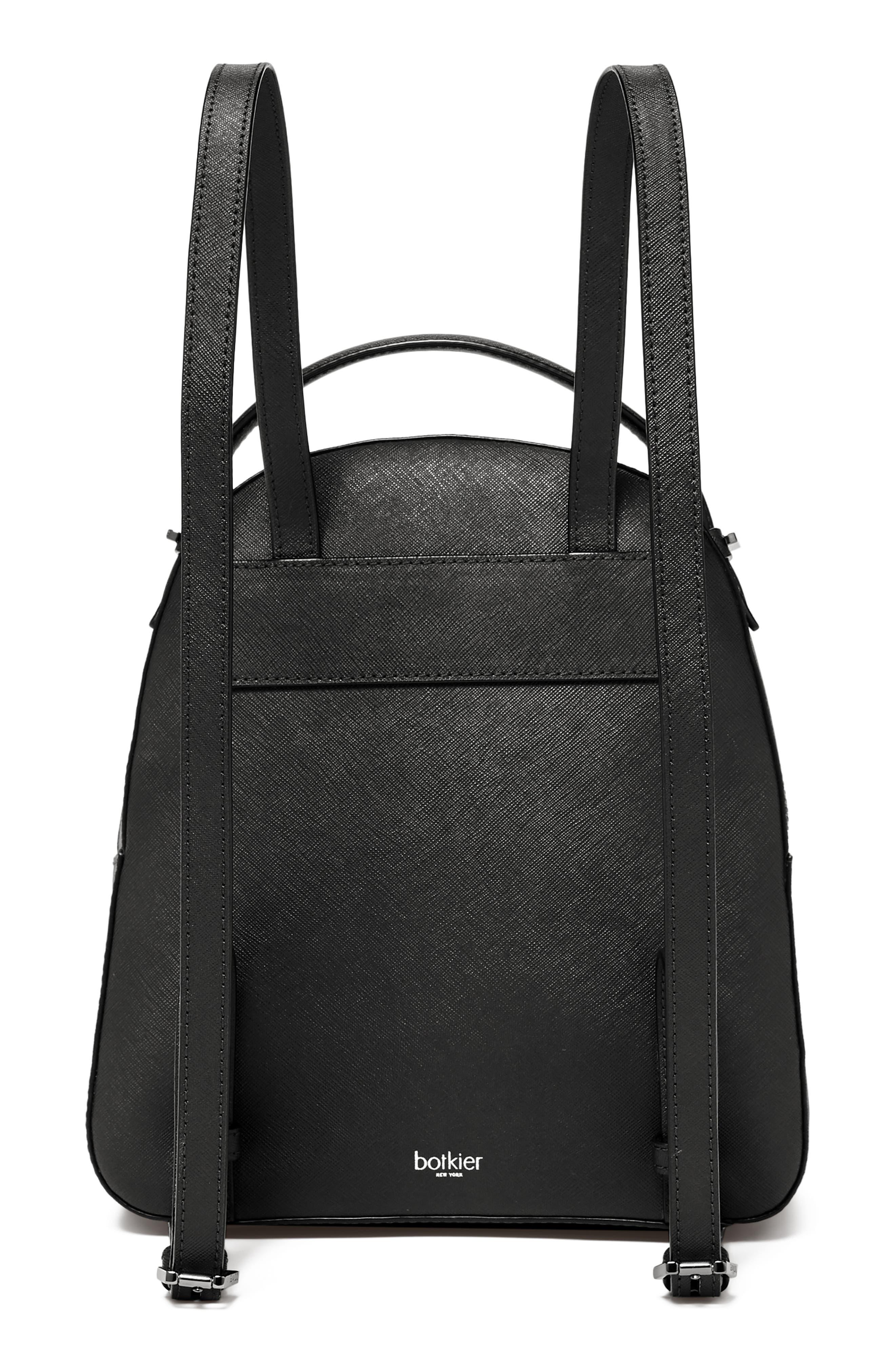 Cobble Hill Calfskin Leather Backpack,                             Alternate thumbnail 2, color,                             BLACK