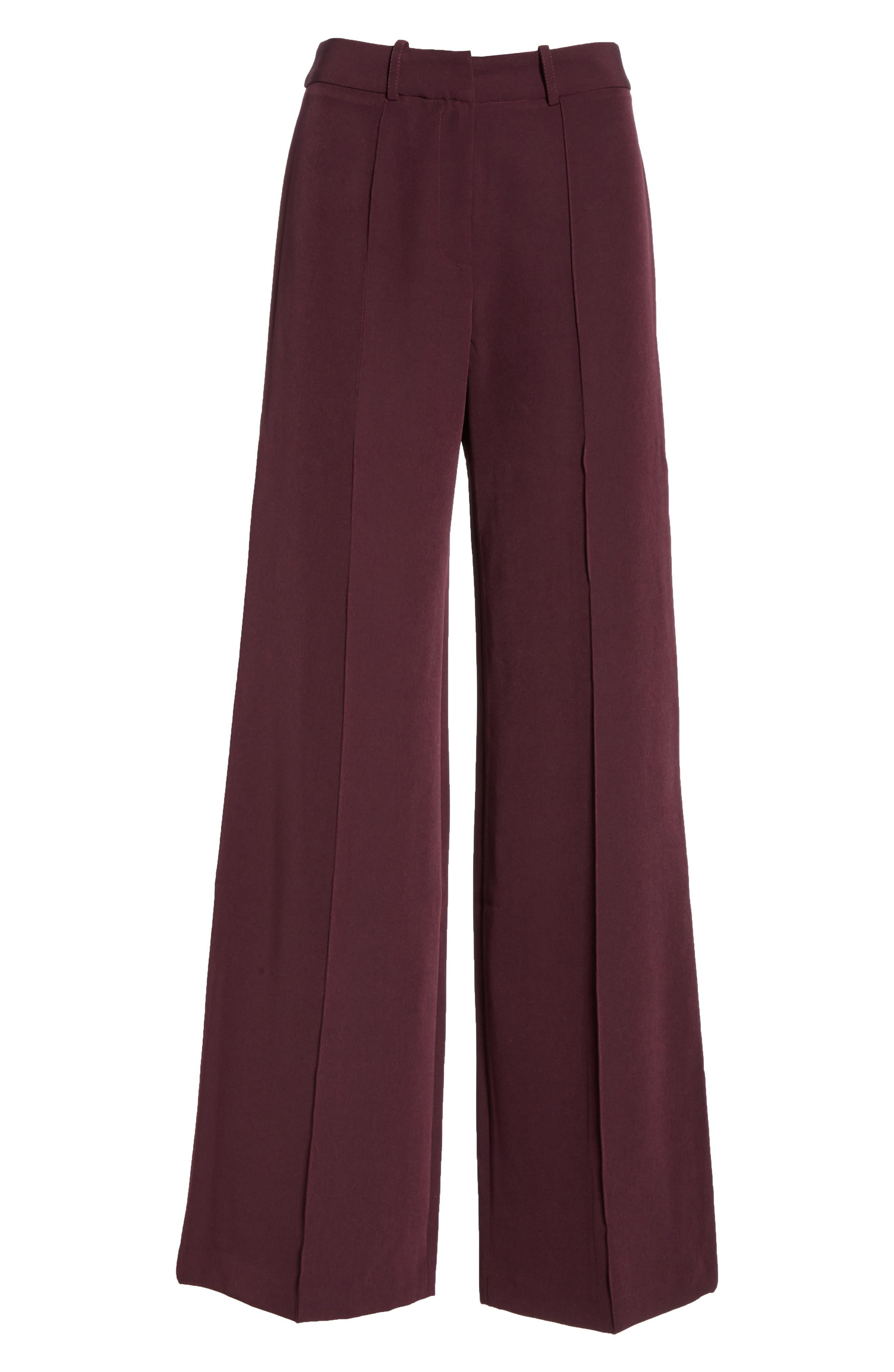 Hayden Seam Front Wide Leg Pants,                             Alternate thumbnail 7, color,                             400