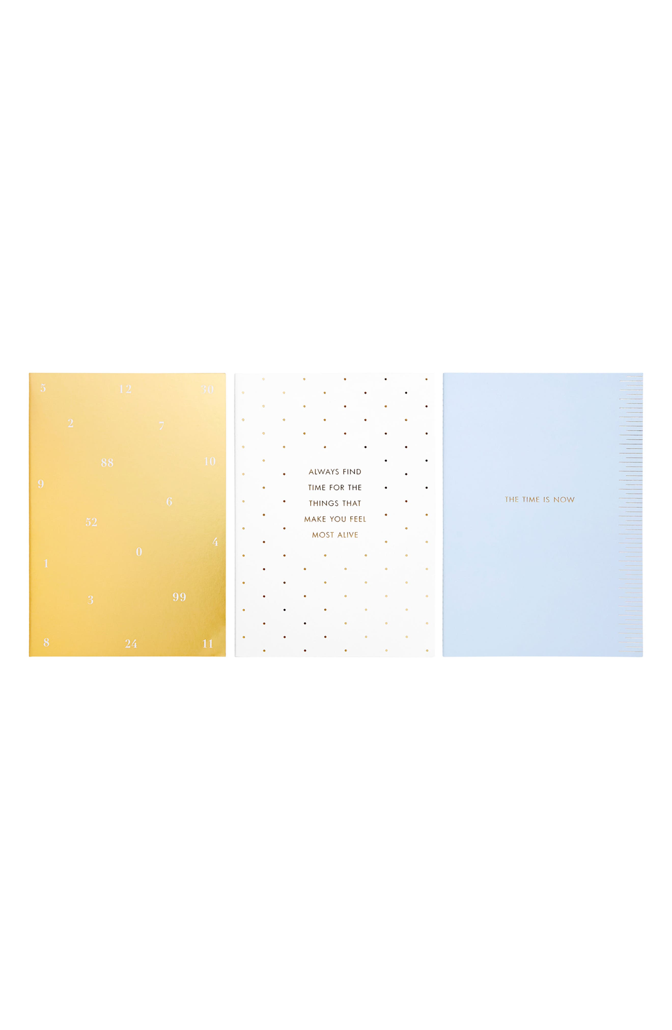 Time is Now 3-Pack Notebooks,                             Alternate thumbnail 3, color,                             MULTI