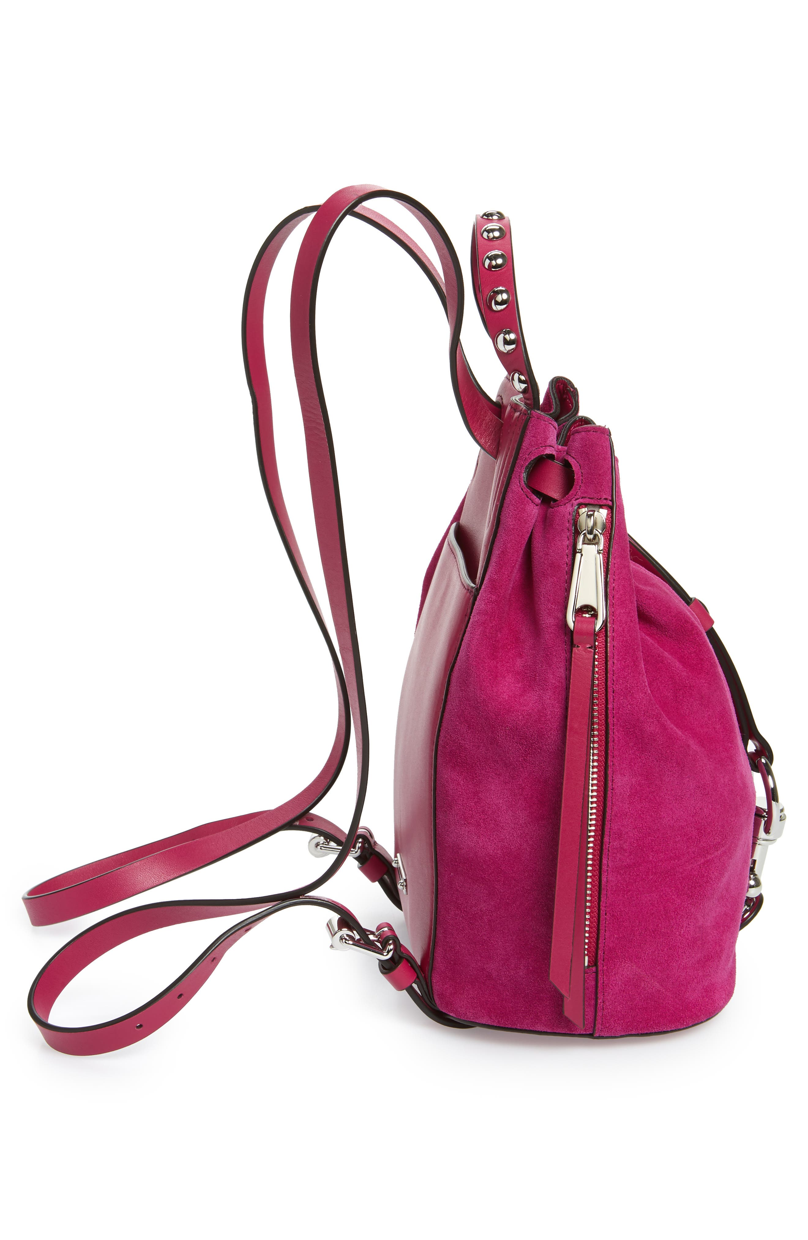 Small Blythe Leather Backpack,                             Alternate thumbnail 5, color,                             650