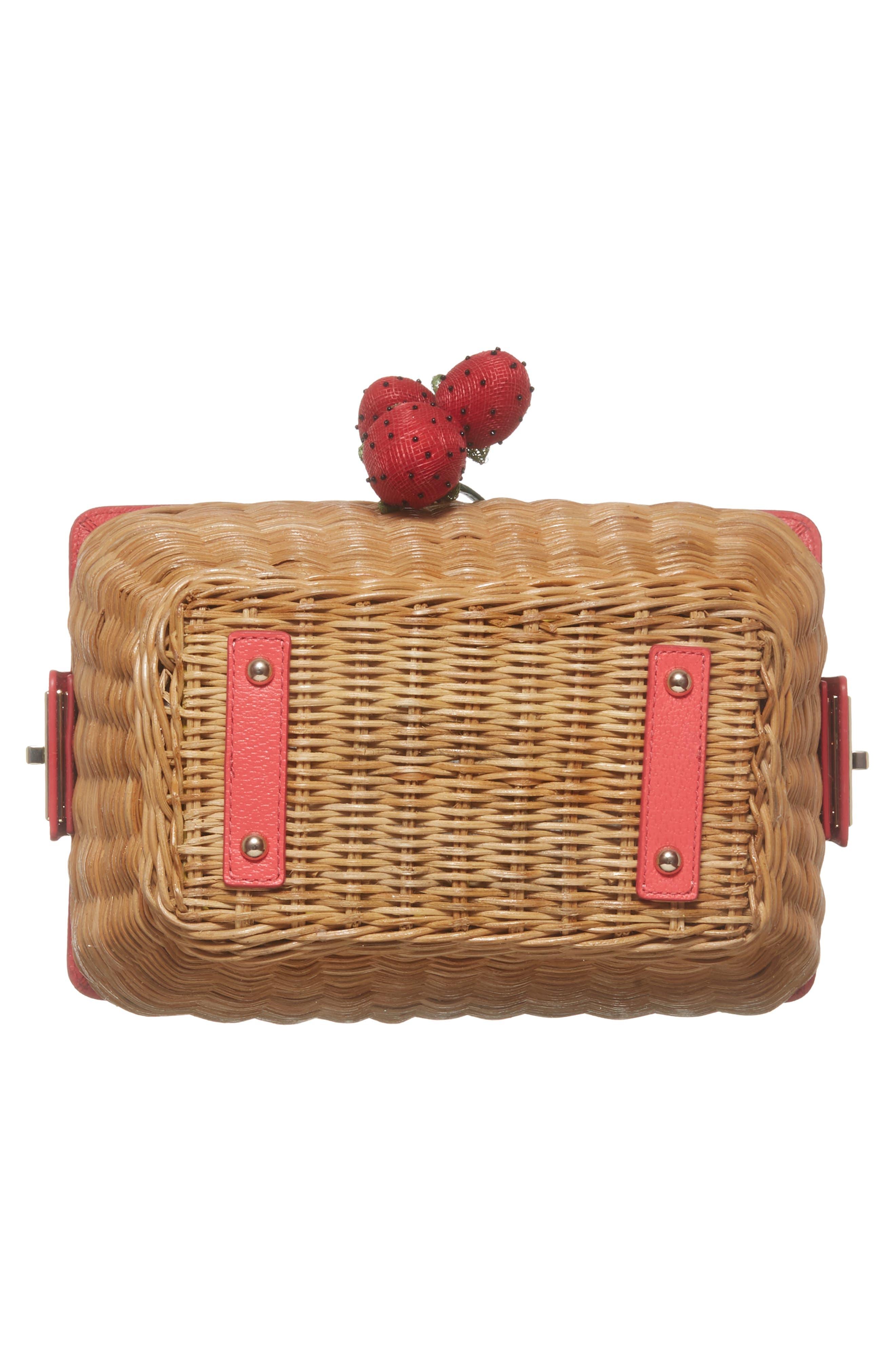 picnic perfect 3D wicker picnic basket,                             Alternate thumbnail 6, color,