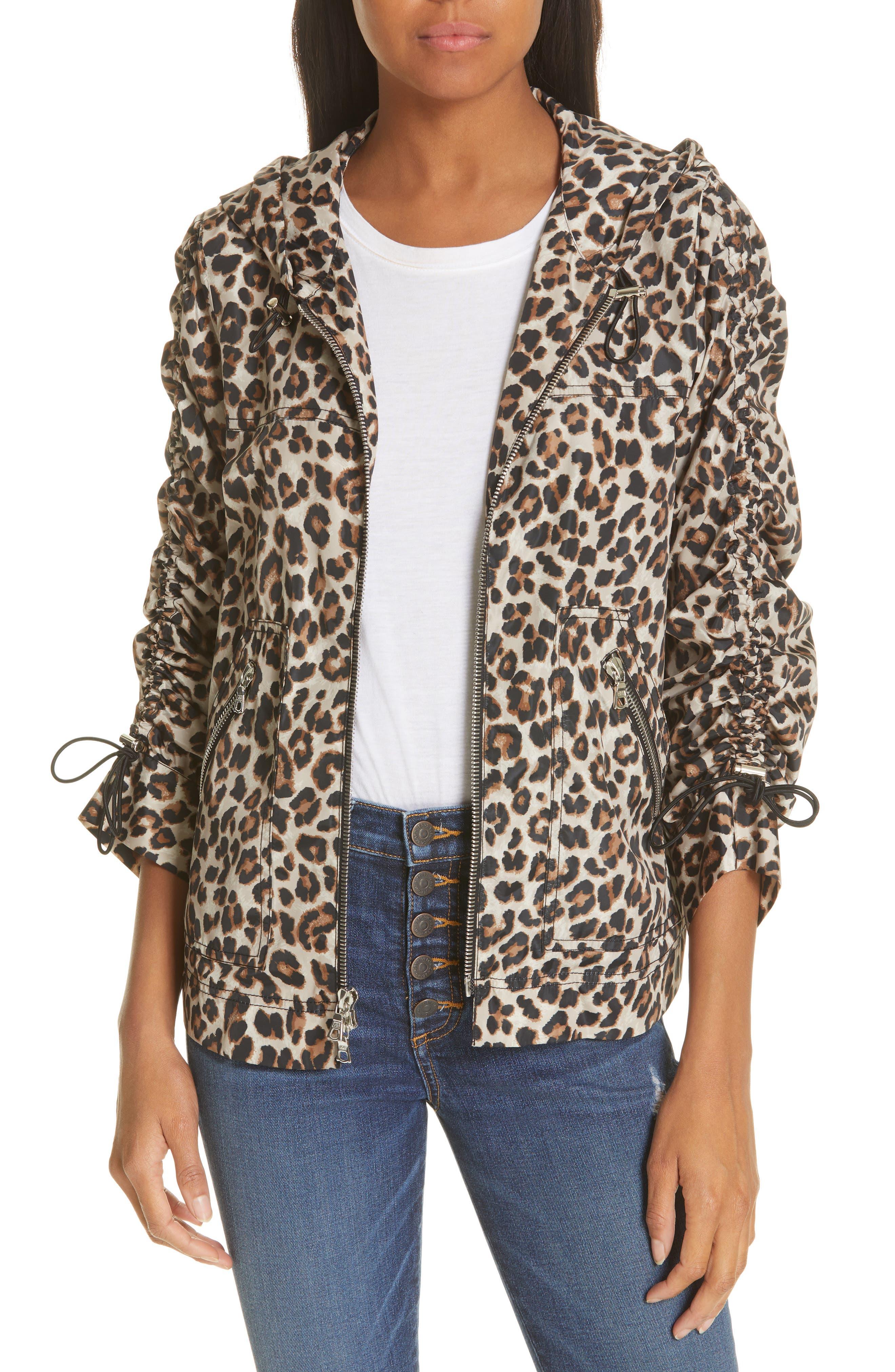 Sibila Leopard Print Jacket,                             Main thumbnail 1, color,                             200