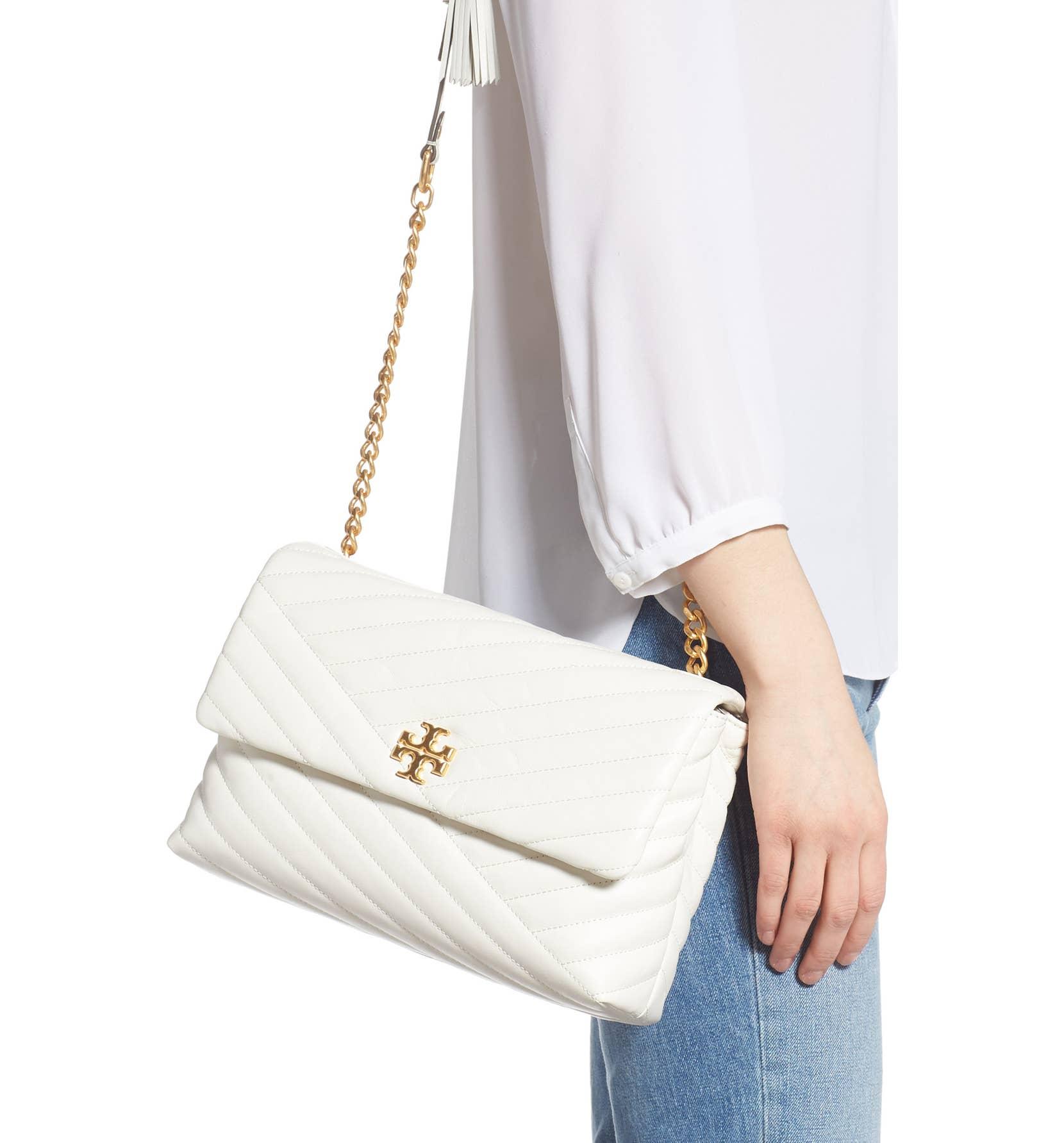 3d620c3ceca1 472 TORY BURCH Kira Chevron Flap Shoulder Bag NEW IVORY