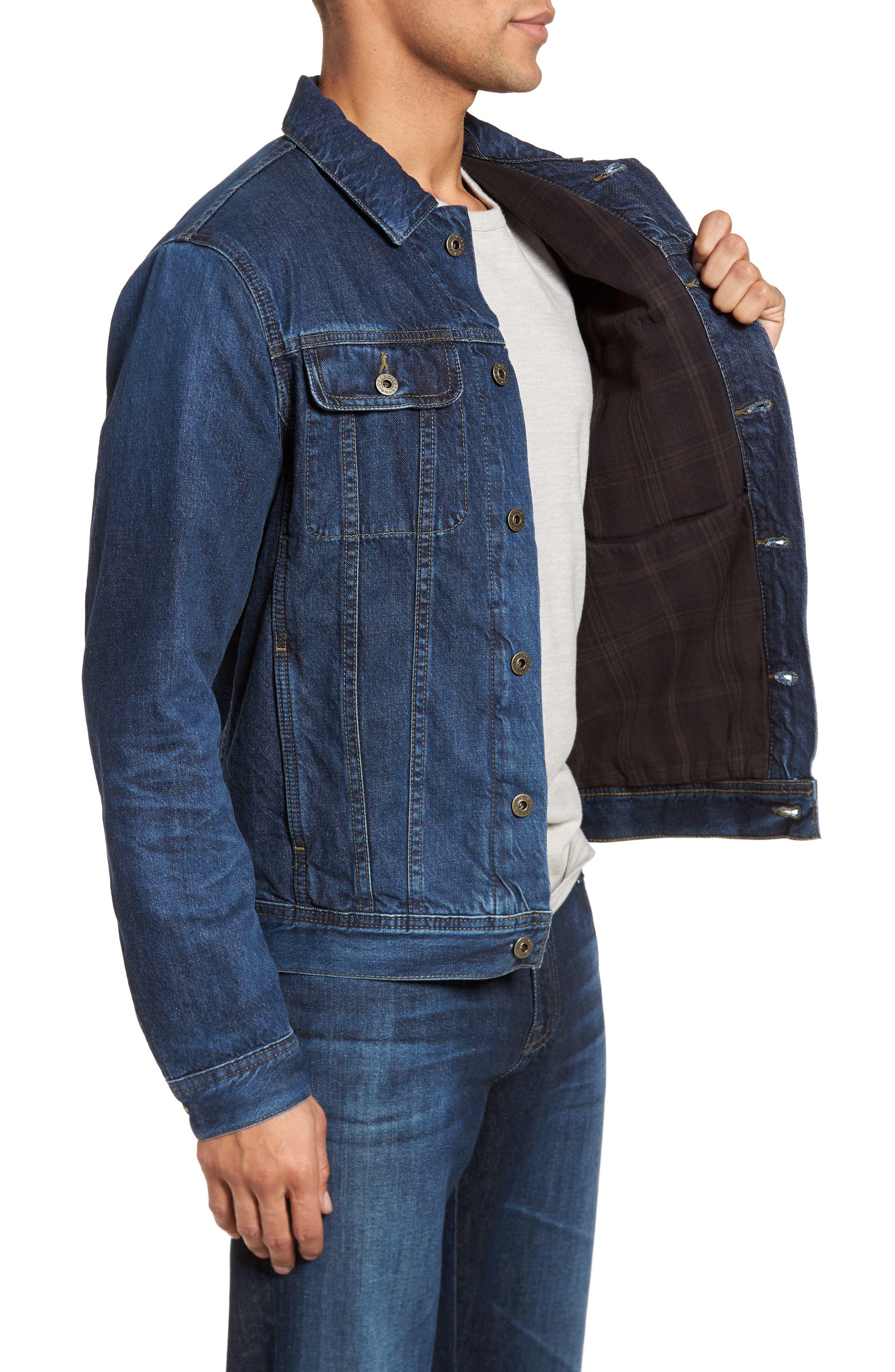 Regular Fit Lined Denim Jacket,                             Alternate thumbnail 3, color,