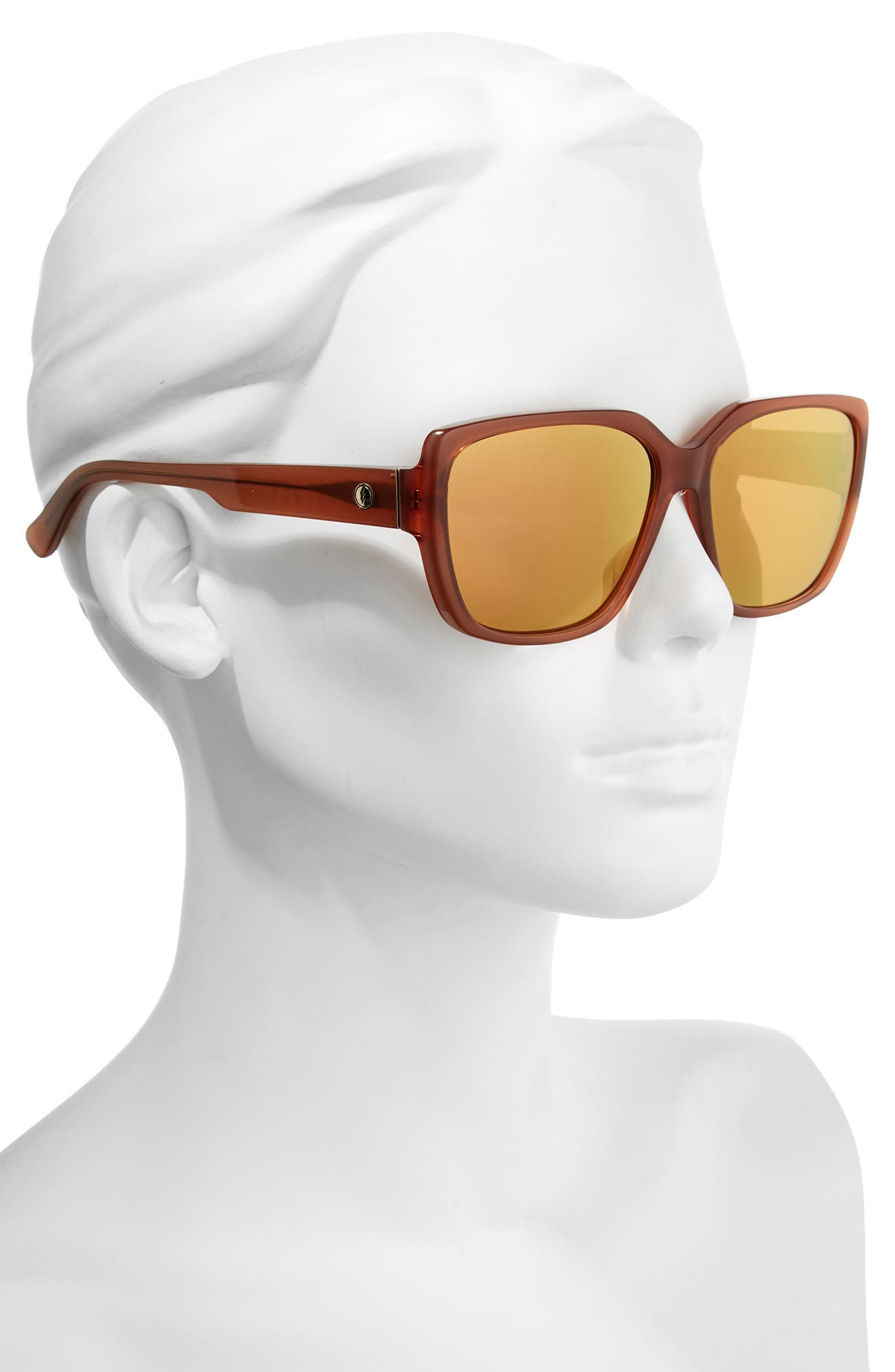 Honey Bee 60mm Mirrored Sunglasses,                             Alternate thumbnail 2, color,                             CALAFIA ROSE/ CHAMPAGNE