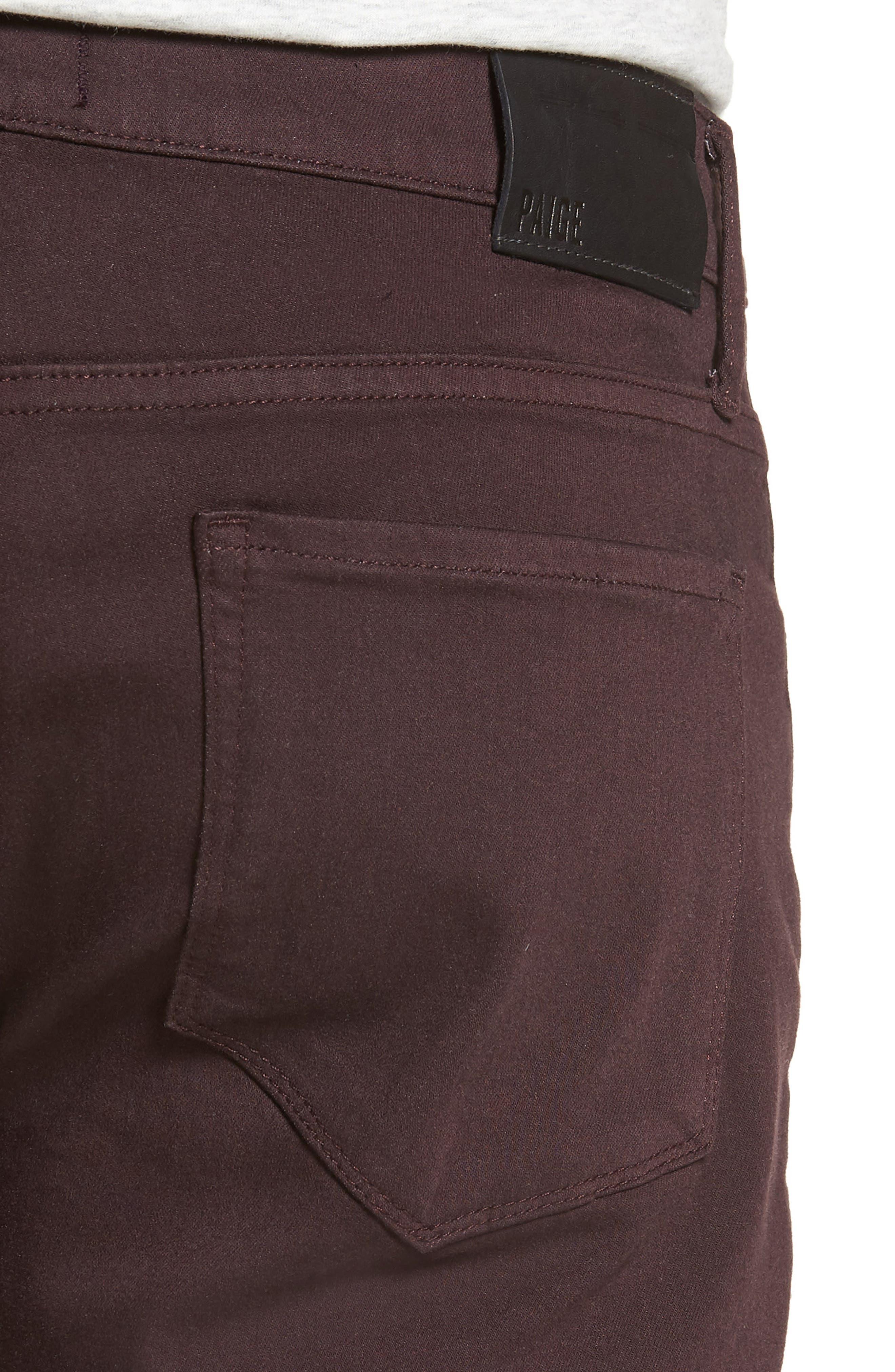Transcend - Federal Silm Straight Fit Jeans,                             Alternate thumbnail 4, color,                             DARK PORT