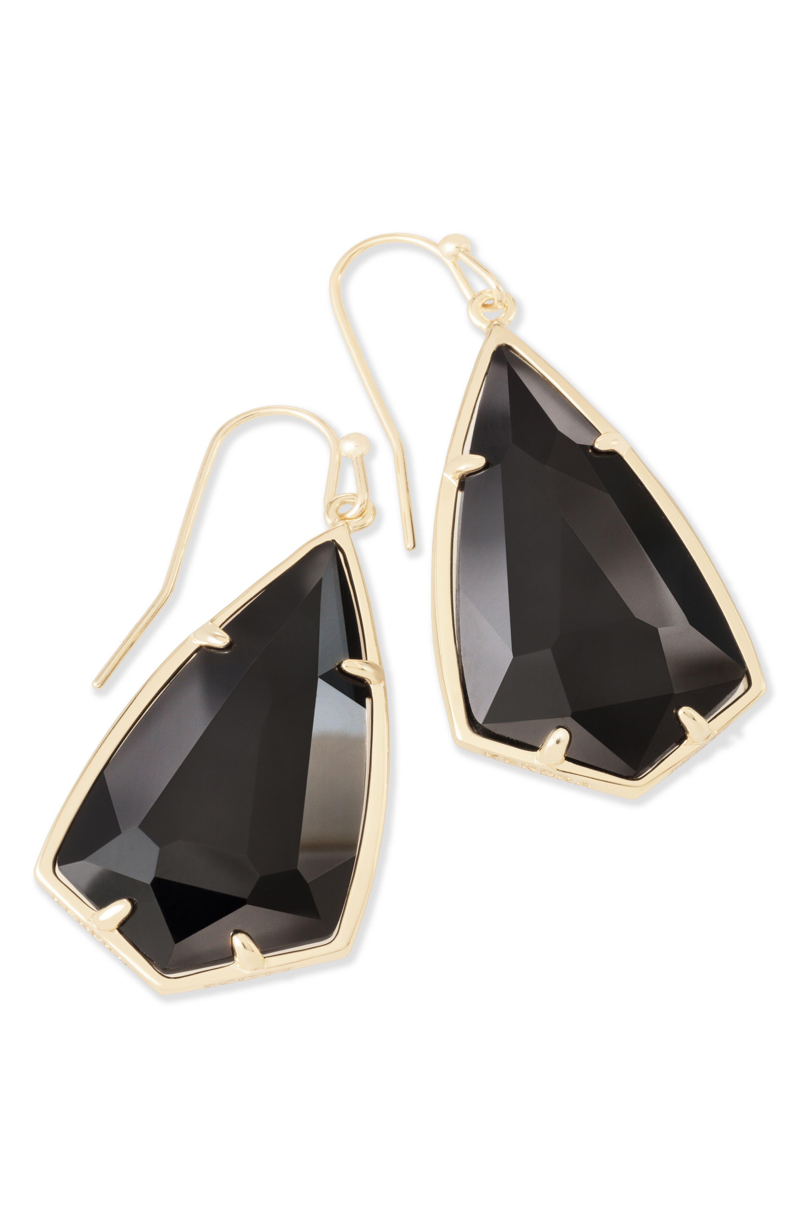 Carla Semiprecious Stone Drop Earrings,                             Alternate thumbnail 5, color,                             003