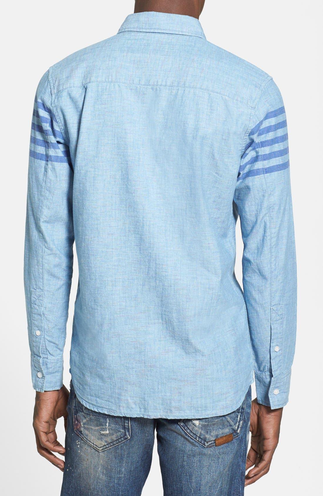 55DSL,                             'Stendard 55' Chest Stripe Print Woven Shirt,                             Alternate thumbnail 2, color,                             400