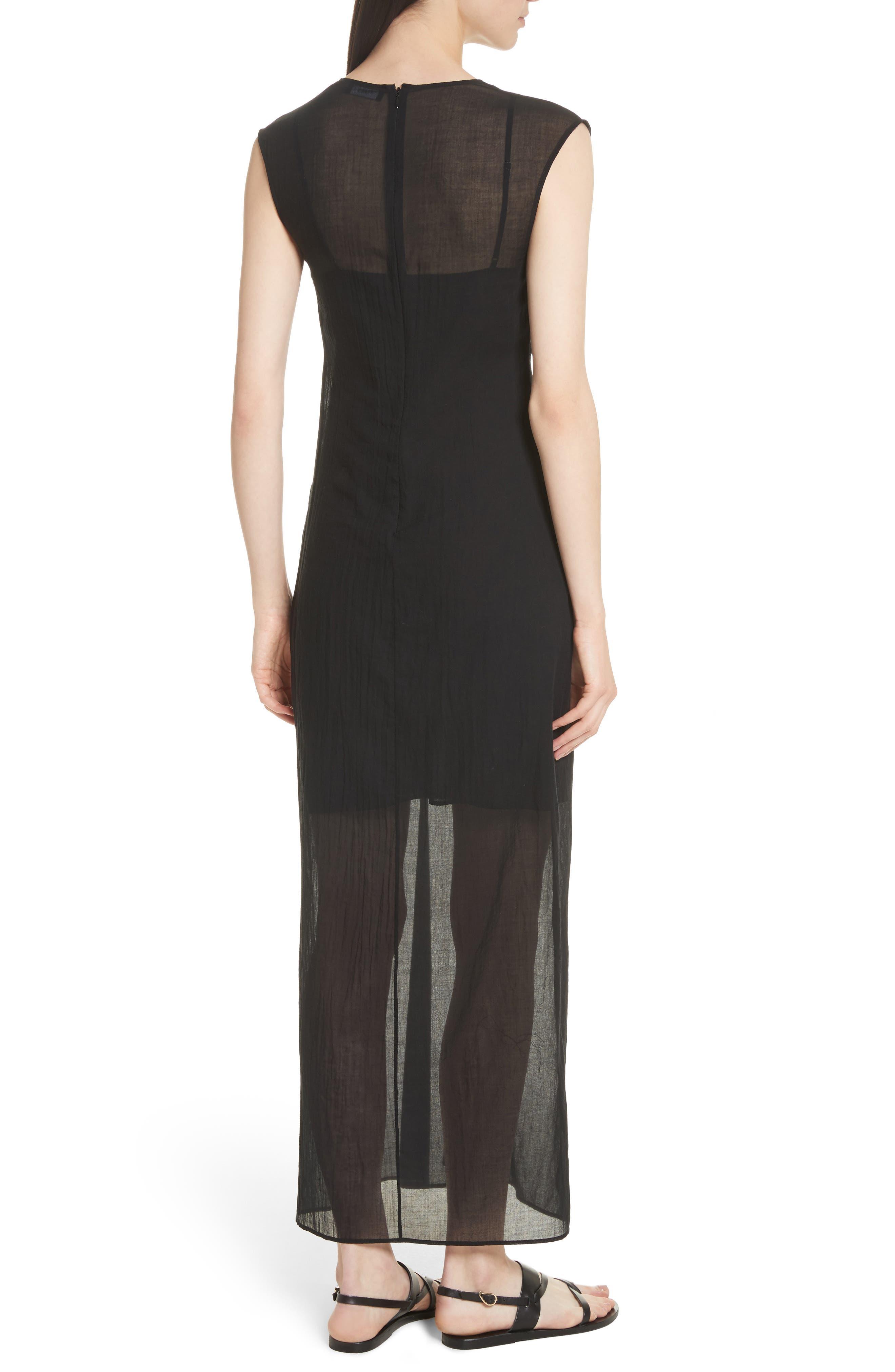 Knot Front Maxi Dress,                             Alternate thumbnail 2, color,                             001
