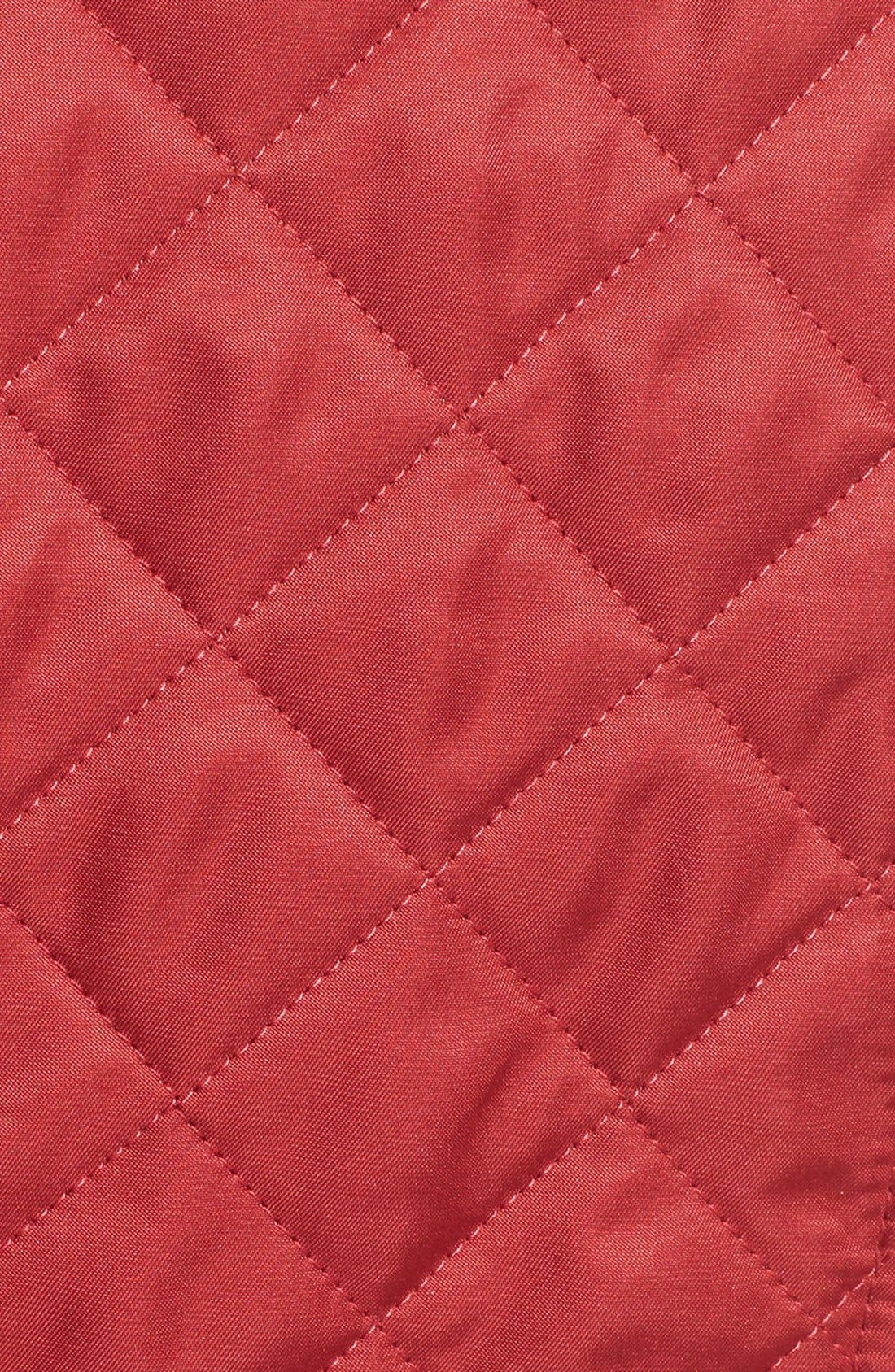 Ashurst Quilted Jacket,                             Alternate thumbnail 3, color,                             PARADE RED